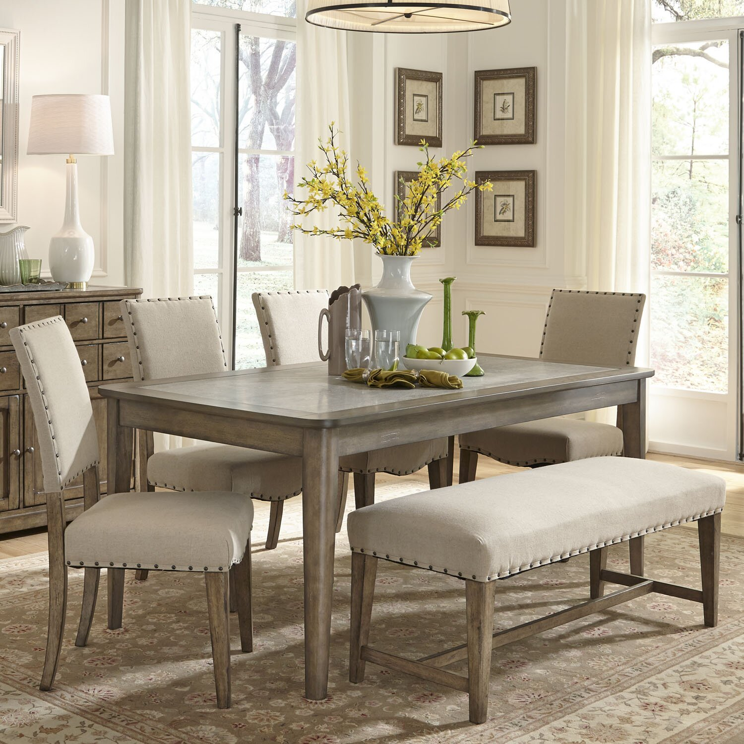 liberty furniture weatherford leg dining table  reviews