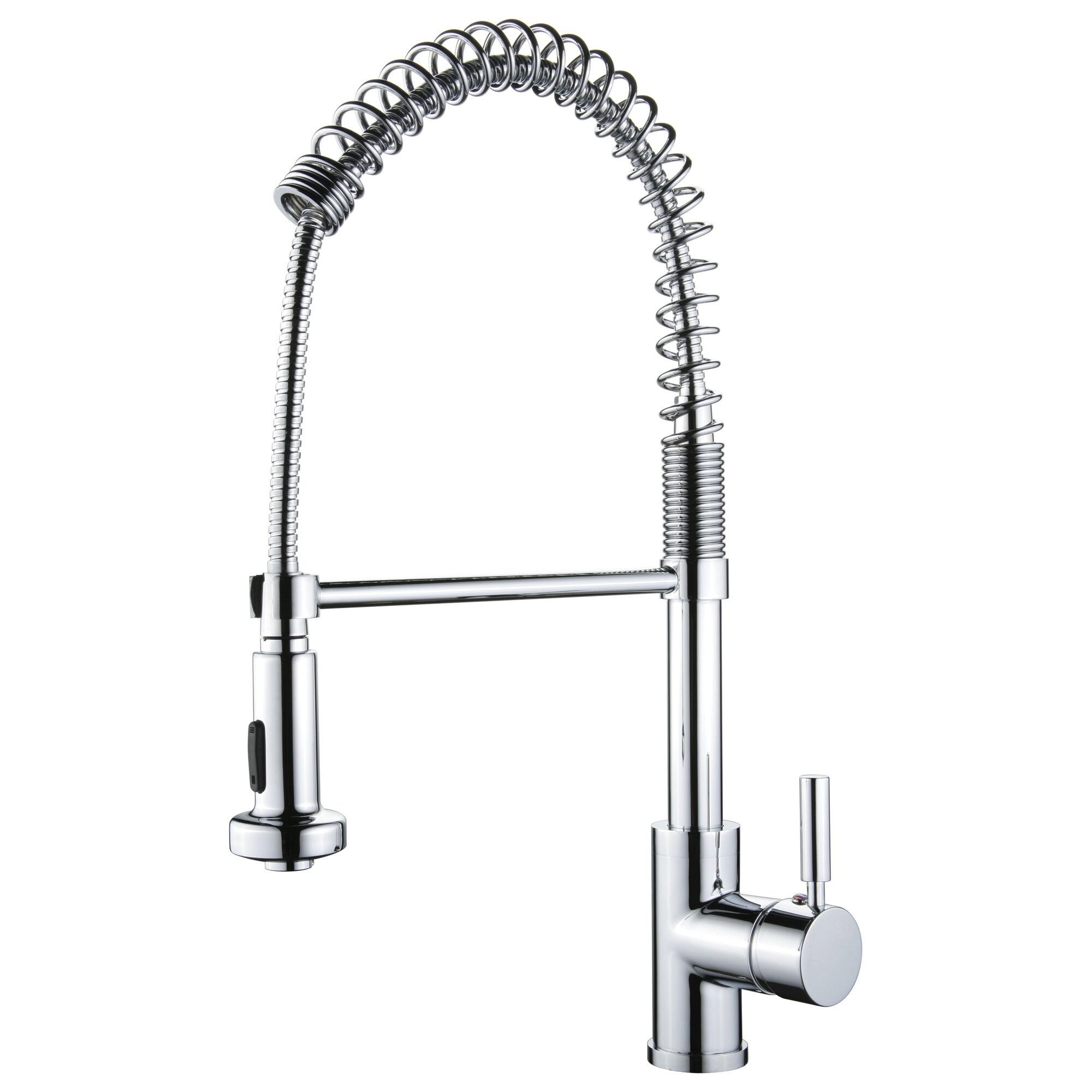 one handle spring pull out kitchen faucet wayfair