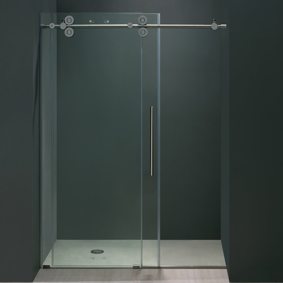 Elan 56 To 60 In Frameless Sliding Shower Door With 375