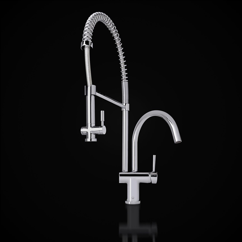 dresden pull-down spray kitchen faucet | wayfair