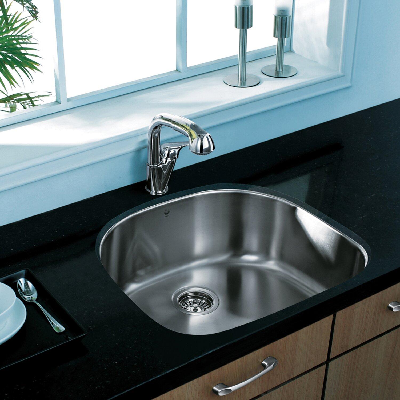 ... Single Bowl 18 Gauge Stainless Steel Kitchen Sink & Reviews Wayfair