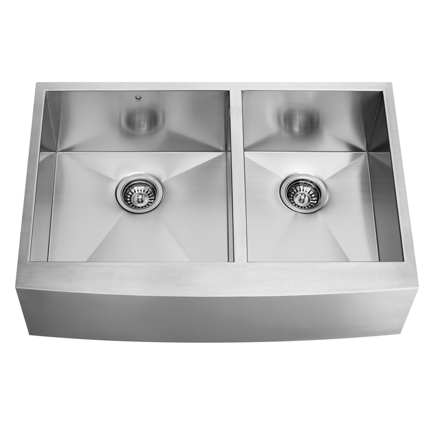 20 Inch Farmhouse Sink : 36 inch Farmhouse Apron 60/40 Double Bowl 16 Gauge Stainless Steel ...