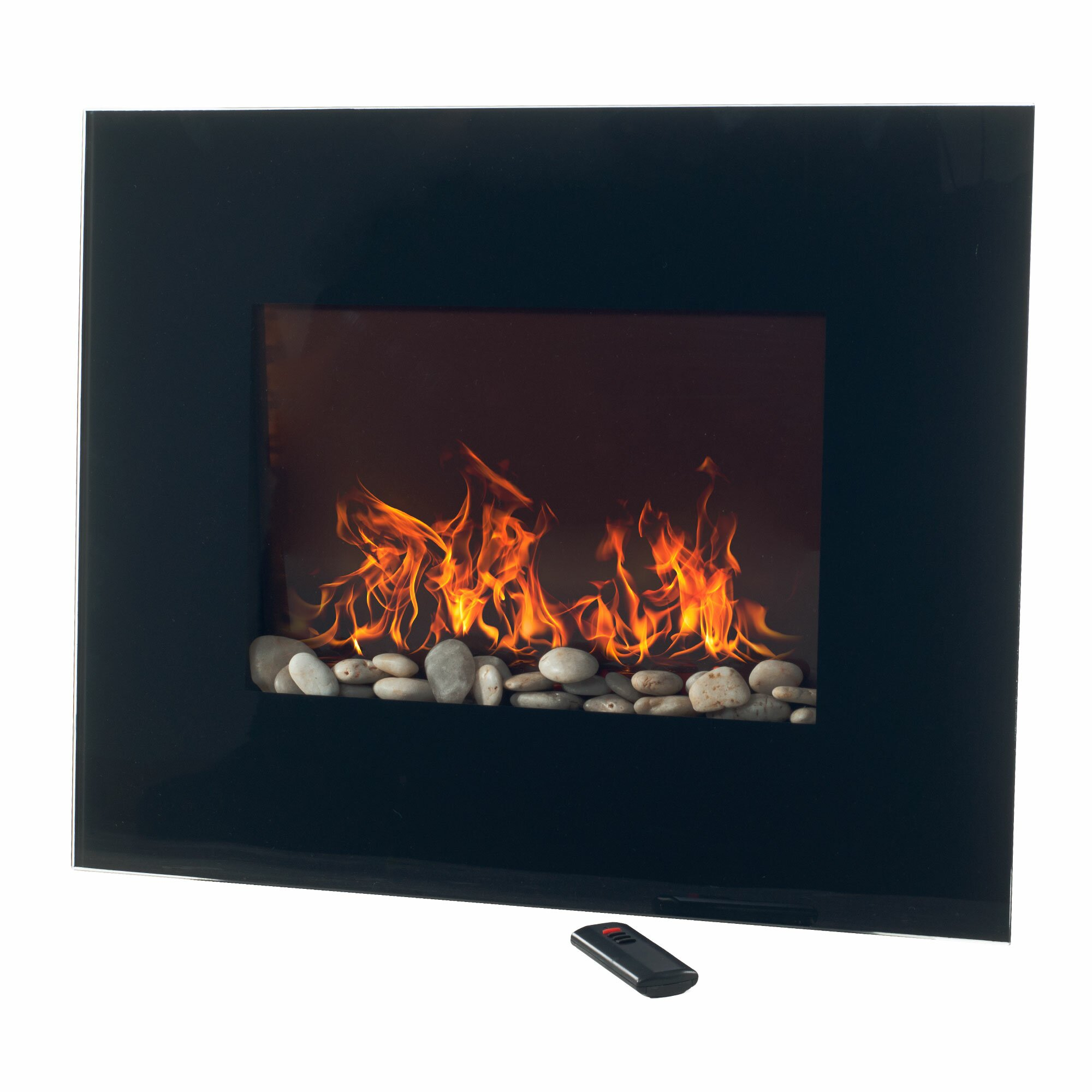 glass wall mount electric fireplace wayfair