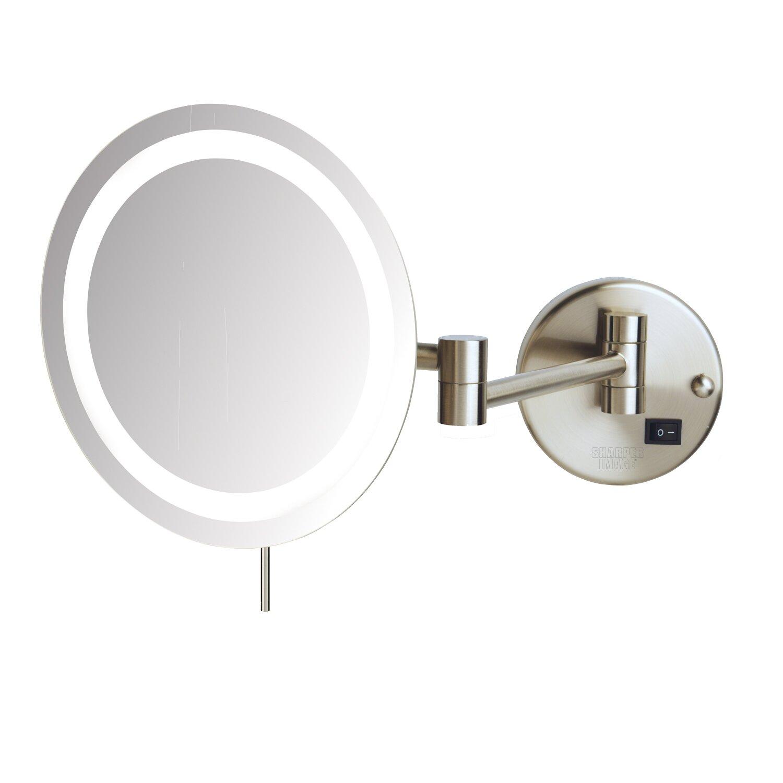 jerdon led 8x magnifying wall mount makeup mirror reviews wayfair. Black Bedroom Furniture Sets. Home Design Ideas
