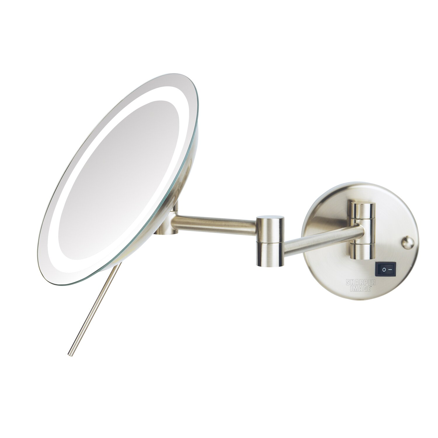 Jerdon Led 8x Magnifying Wall Mount Makeup Mirror