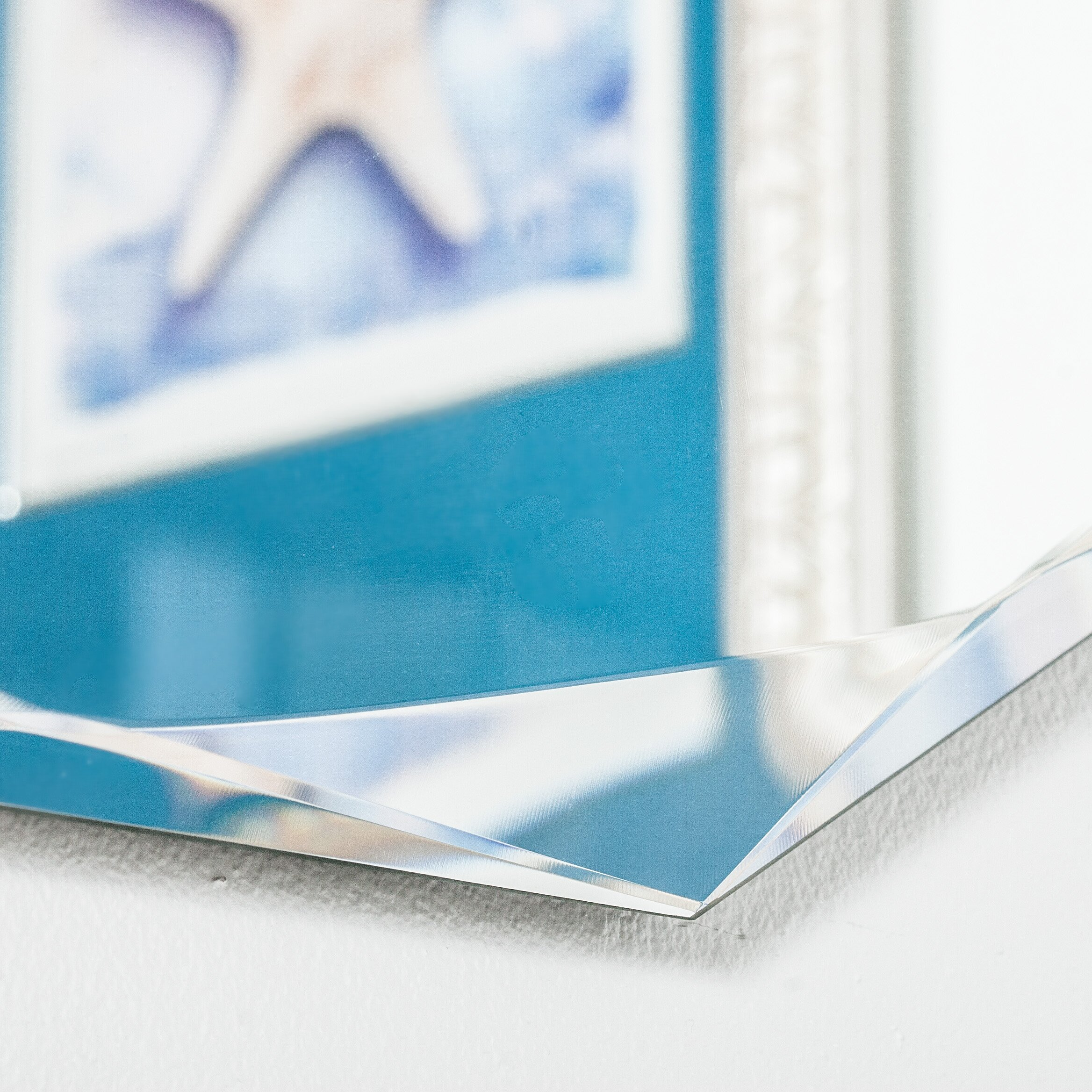 Decor Wonderland Frameless Diamond Wall Mirror Amp Reviews