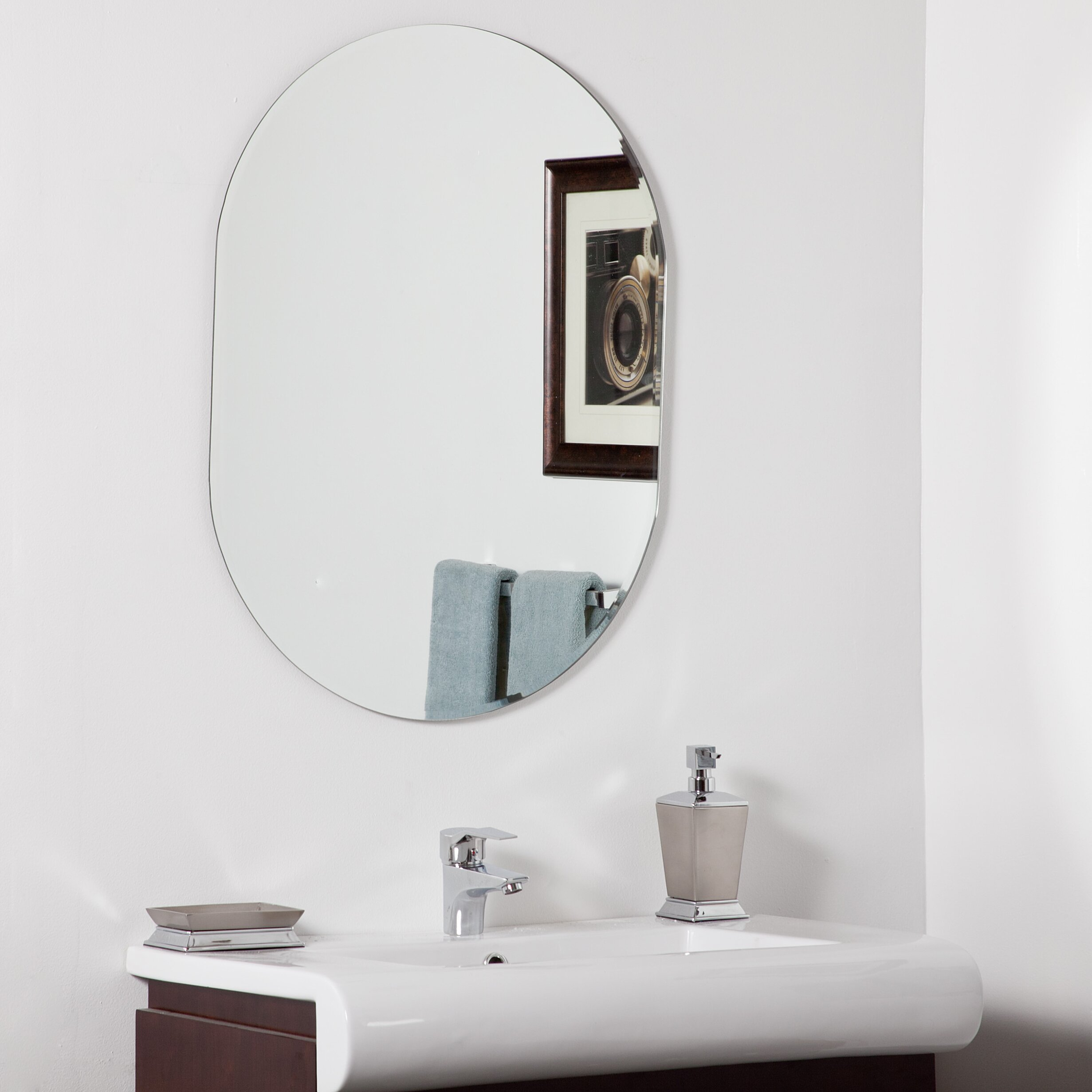 Modern Mirrors For Bathrooms: Decor Wonderland Khloe Modern Wall Mirror & Reviews