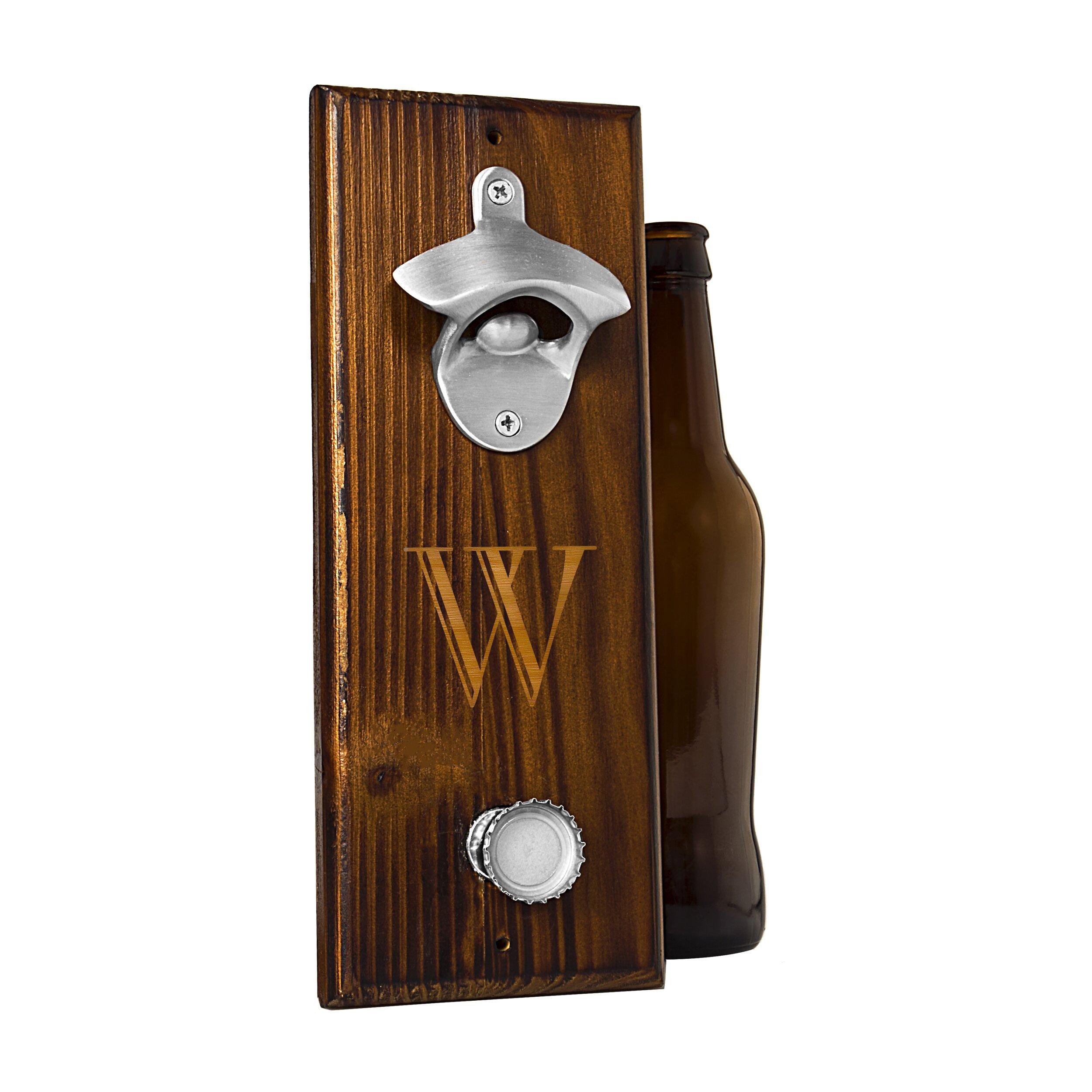 Personalized wall mount bottle opener wayfair - Personalized wall mount bottle opener ...
