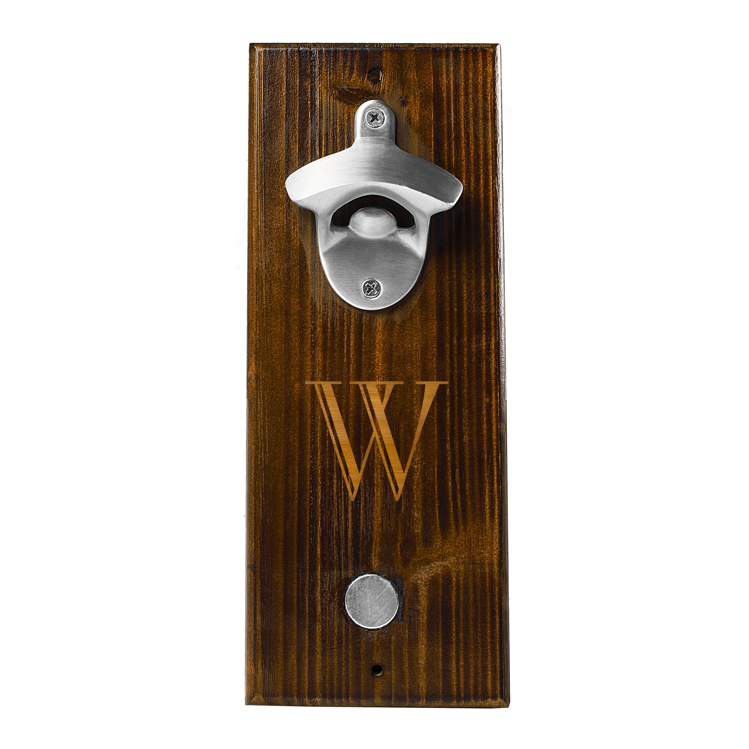 personalized wall mount bottle opener wayfair. Black Bedroom Furniture Sets. Home Design Ideas