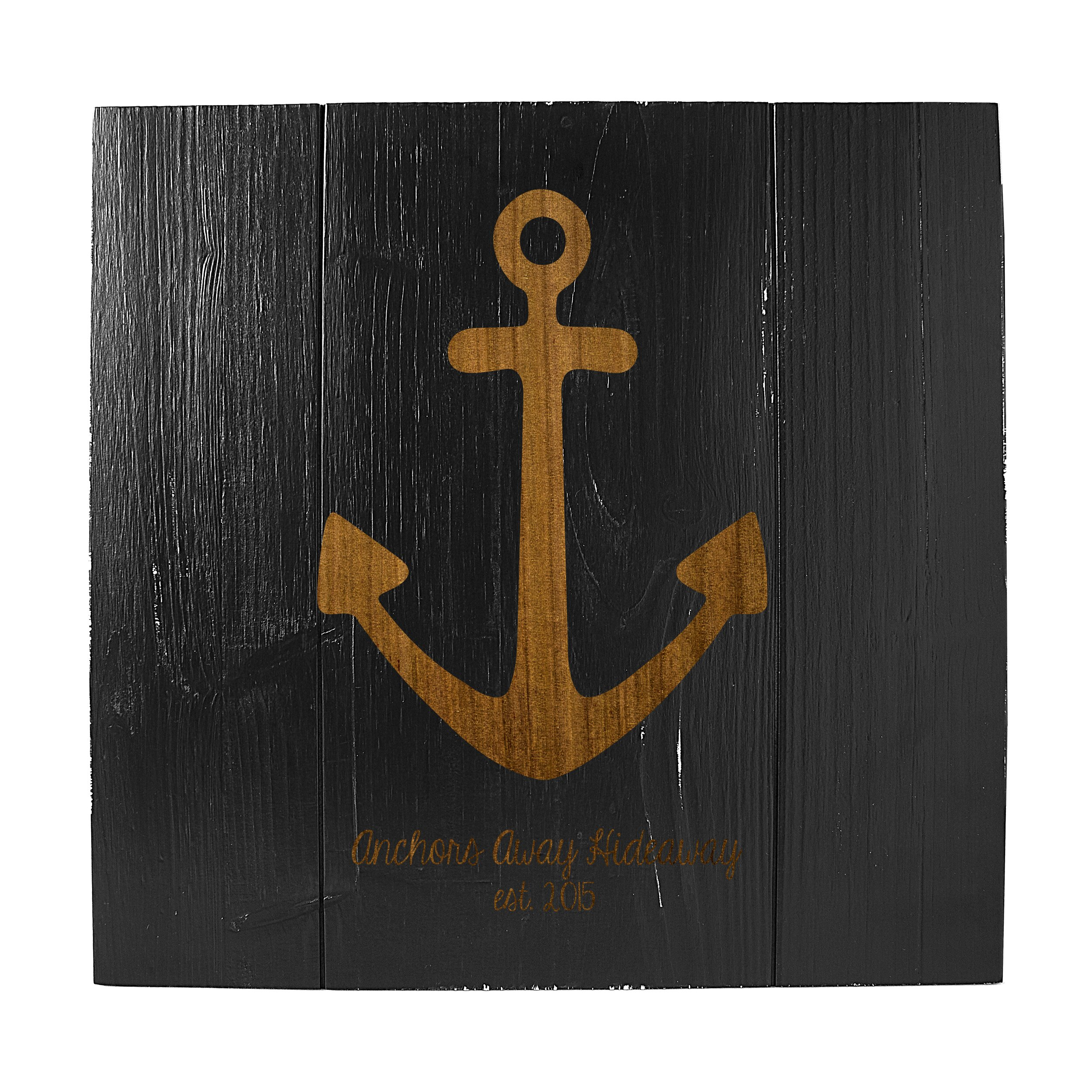 Rustic Monogram Wall Decor : Personalized rustic anchor wooden wall decor wayfair