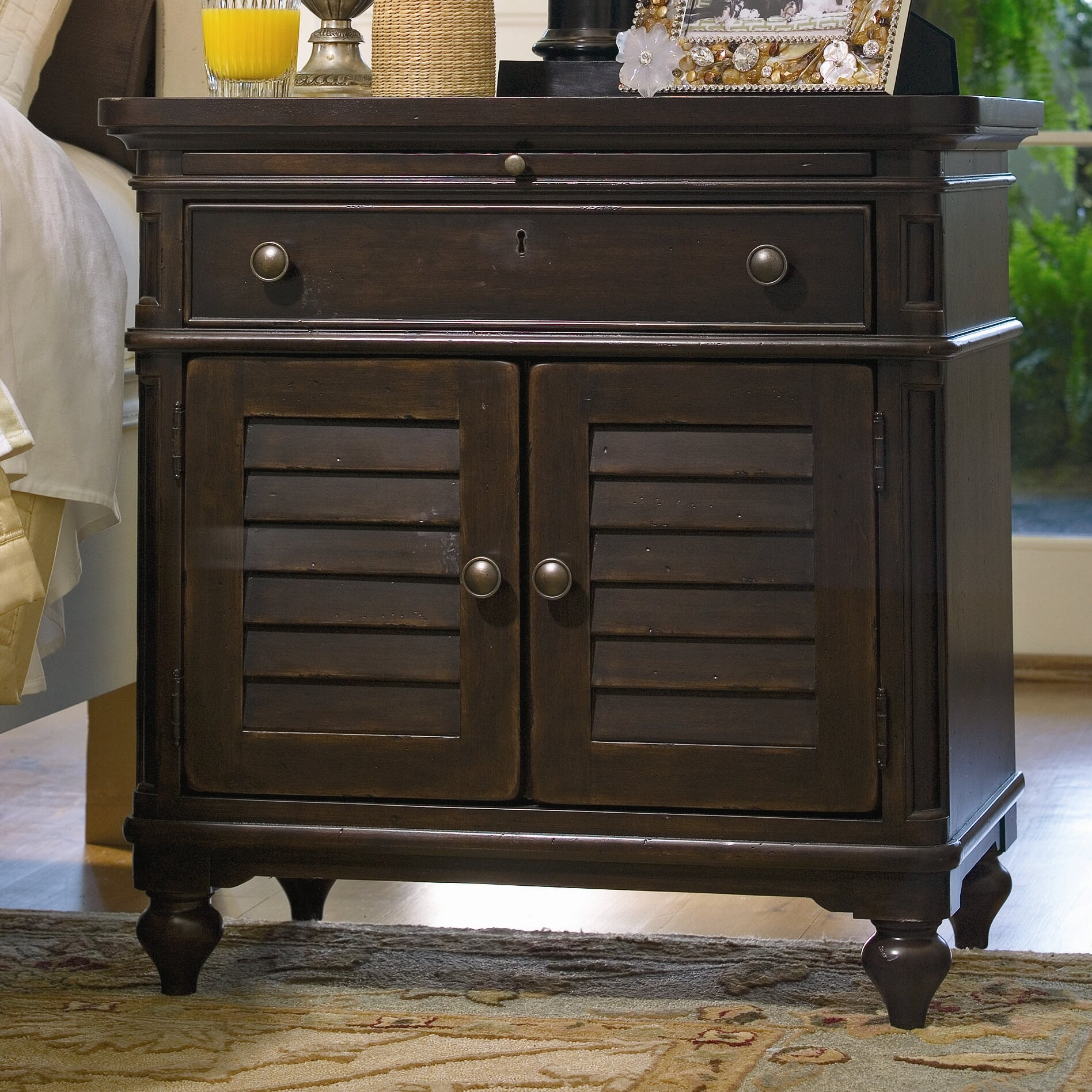 Paula Deen Home Steel Magnolia 1 Drawer Nightstand Reviews Wayfair