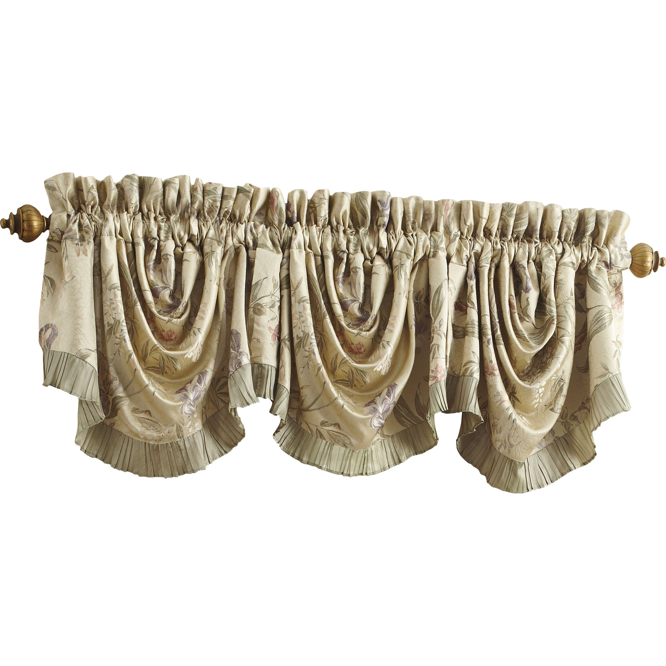 Christmas decorations for kids rooms - Iris Rod Pocket Swag 44 Quot Curtain Valance Wayfair