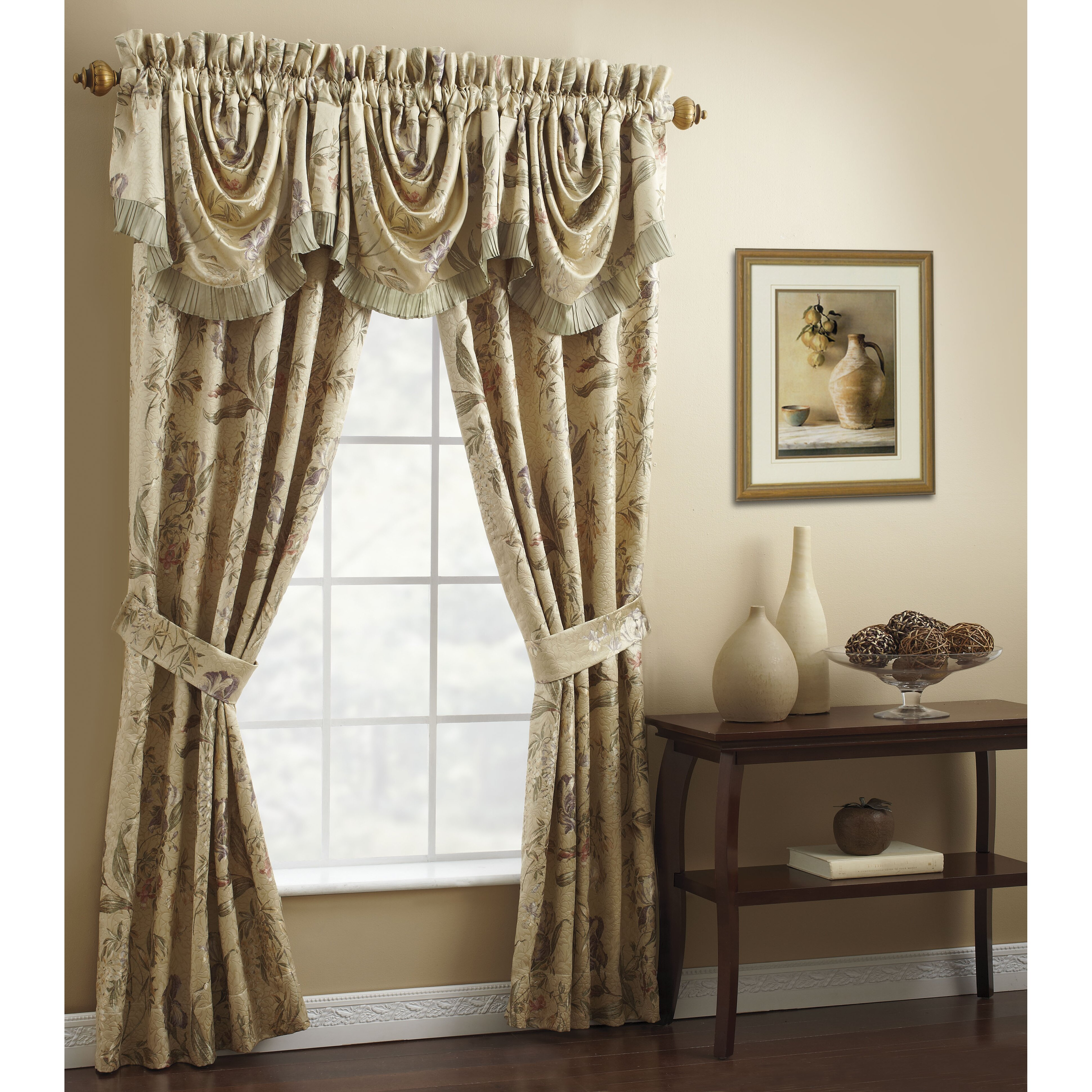 "Iris Rod Pocket Swag 44"" Curtain Valance"