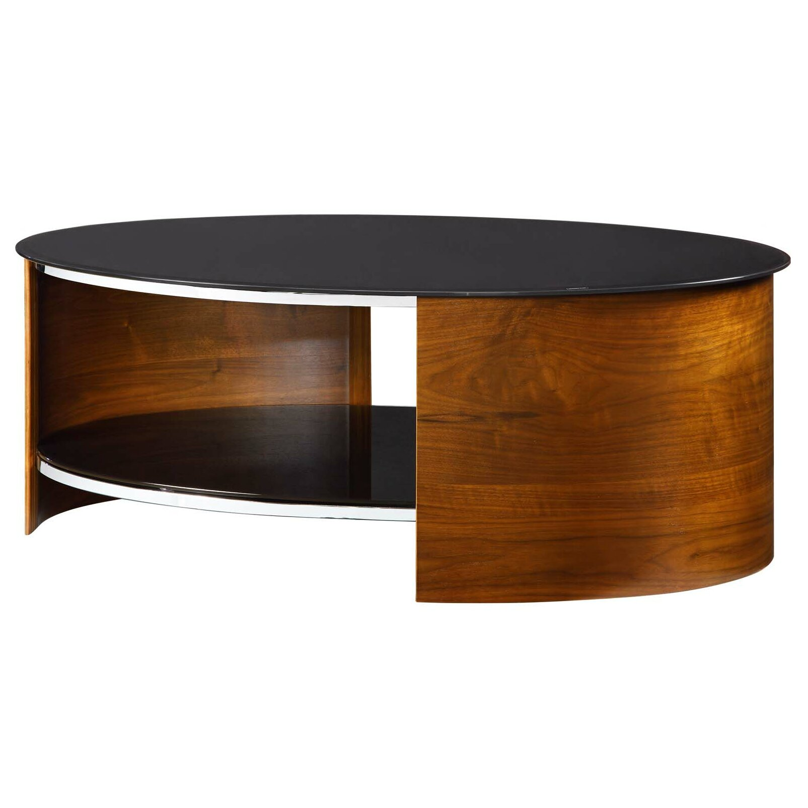 Wayfair Glass Coffee Table Uk: Jual Curve Coffee Table With Magazine Rack & Reviews