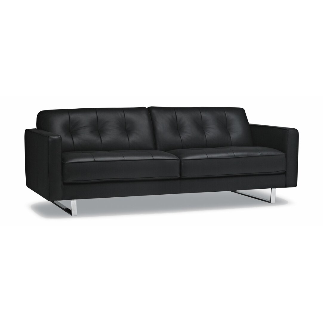 sofas to go lincoln leather sofa allmodern. Black Bedroom Furniture Sets. Home Design Ideas
