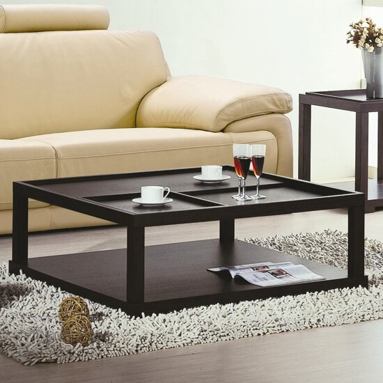 hokku designs parson coffee table with removable tray allmodern. Black Bedroom Furniture Sets. Home Design Ideas