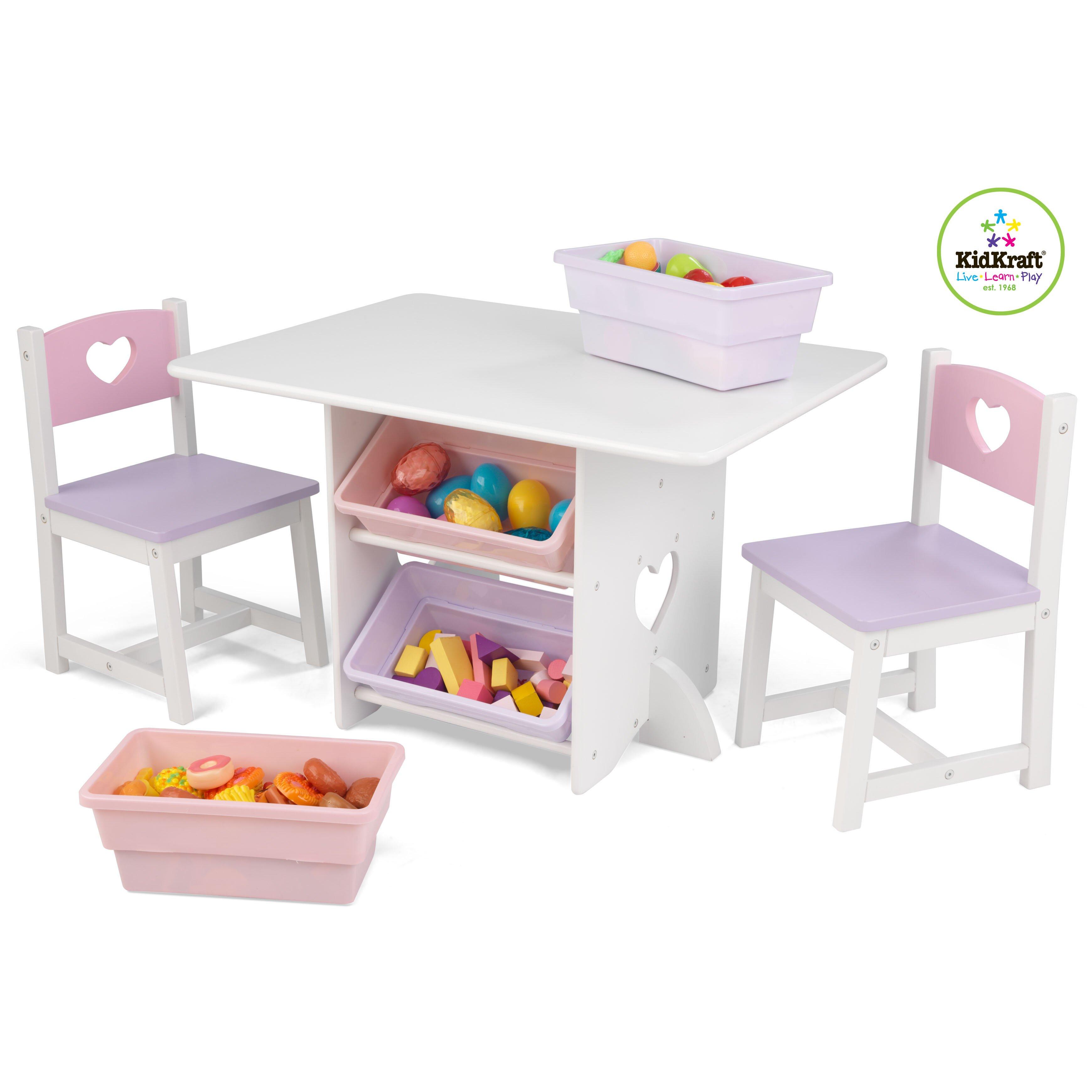 3 tlg kindertisch und stuhl set von kidkraft. Black Bedroom Furniture Sets. Home Design Ideas