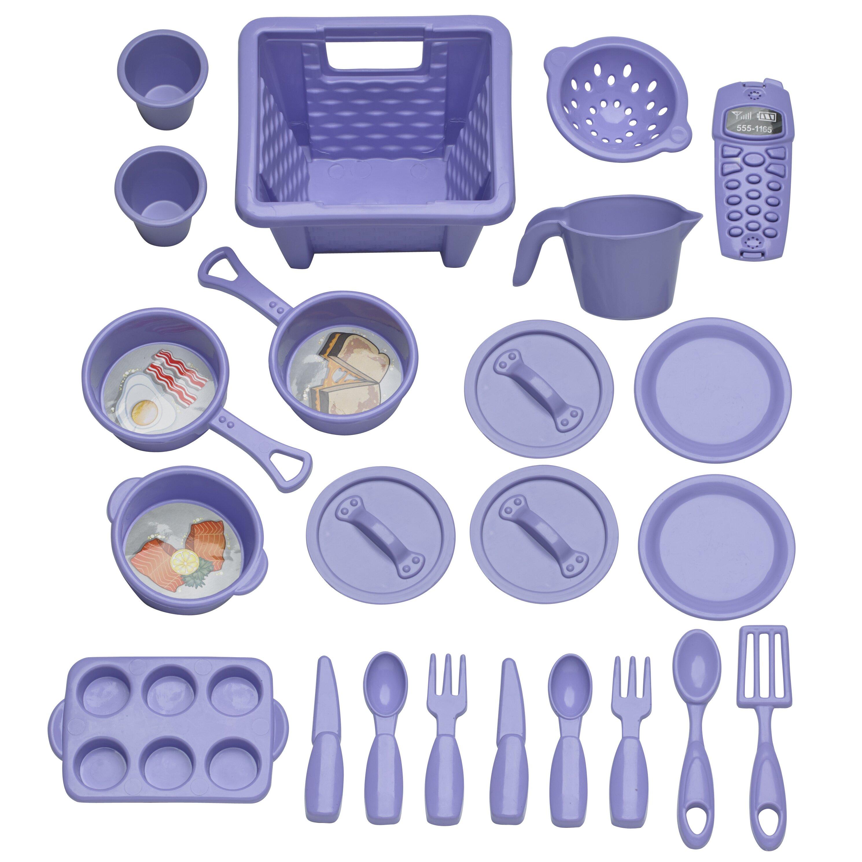 23 piece my very own sweet treat kitchen set wayfair for Plastic kitchen set