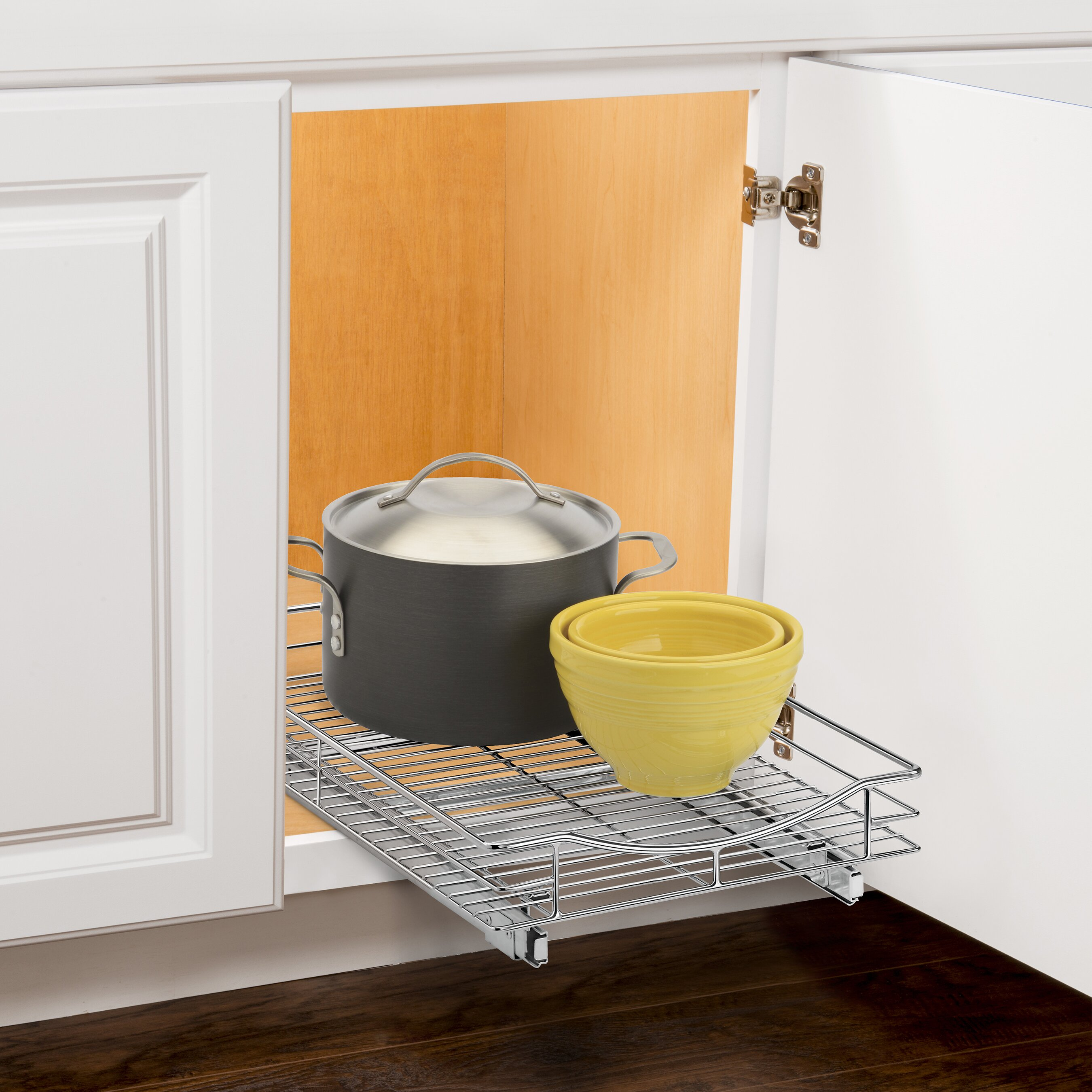Lynk Roll Out Double Shelf: Lynk Professional Roll Out Cabinet Organizer