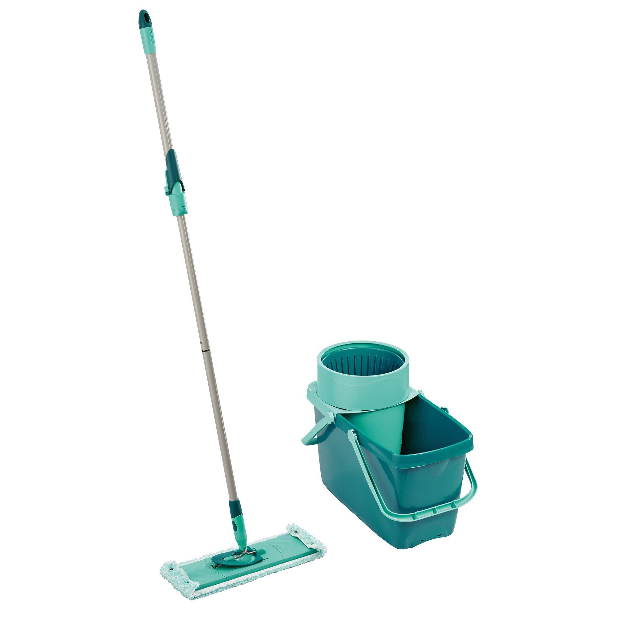 clean twist xl rectangular mop sweeper set with mop and spin bucket wayfair. Black Bedroom Furniture Sets. Home Design Ideas