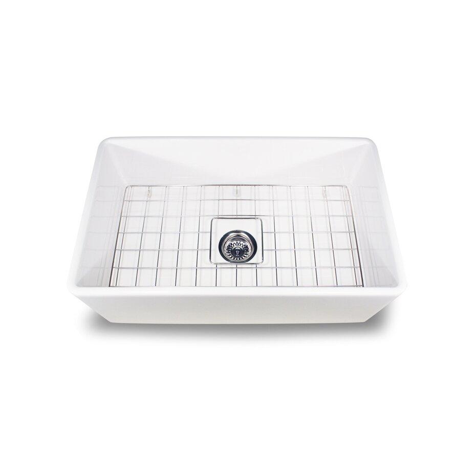 "Kitchen Sink Grid: Nantucket Sinks 30.25"" X 18"" Fireclay Farmhouse Kitchen"