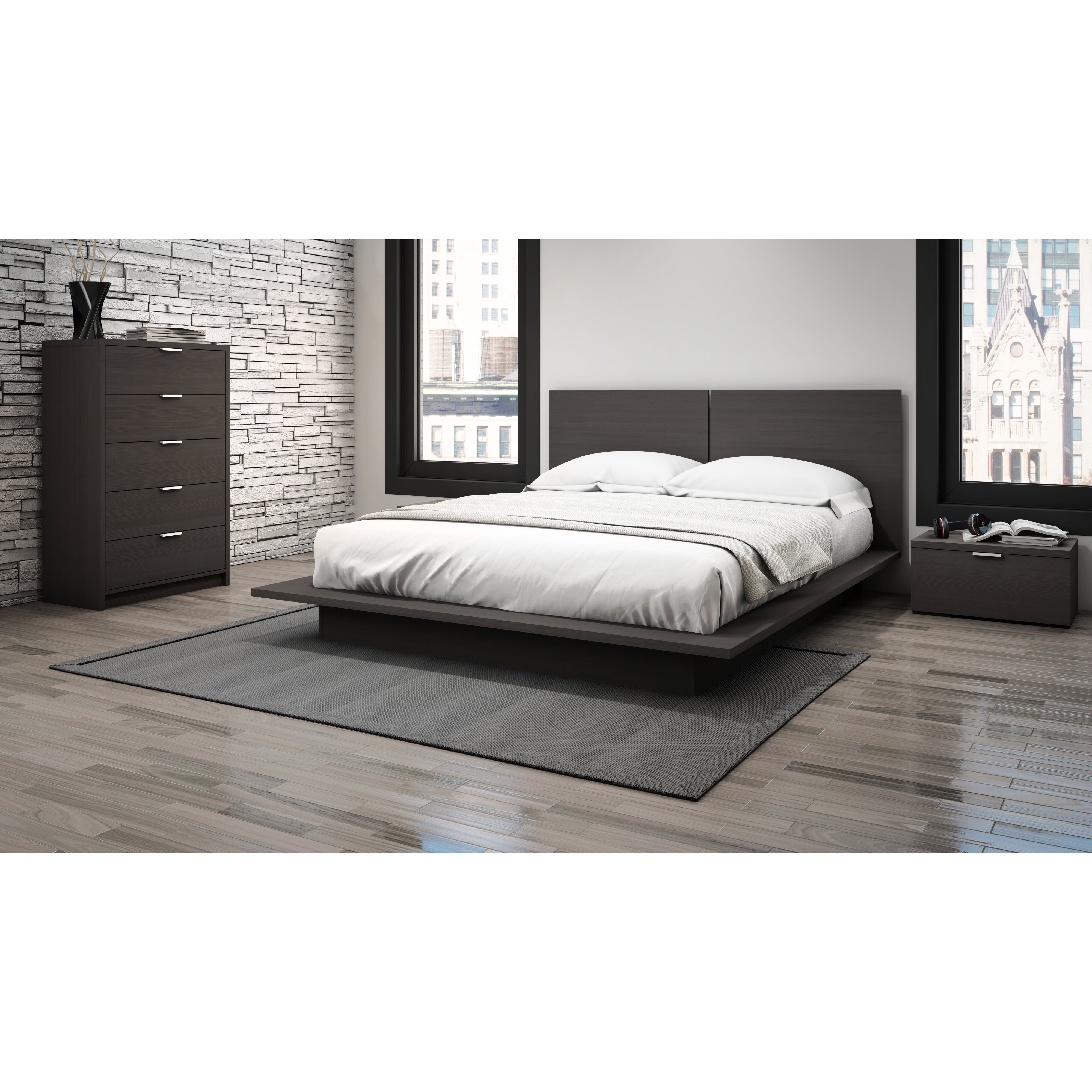 Modena Queen Platform Bed By Stellar Home