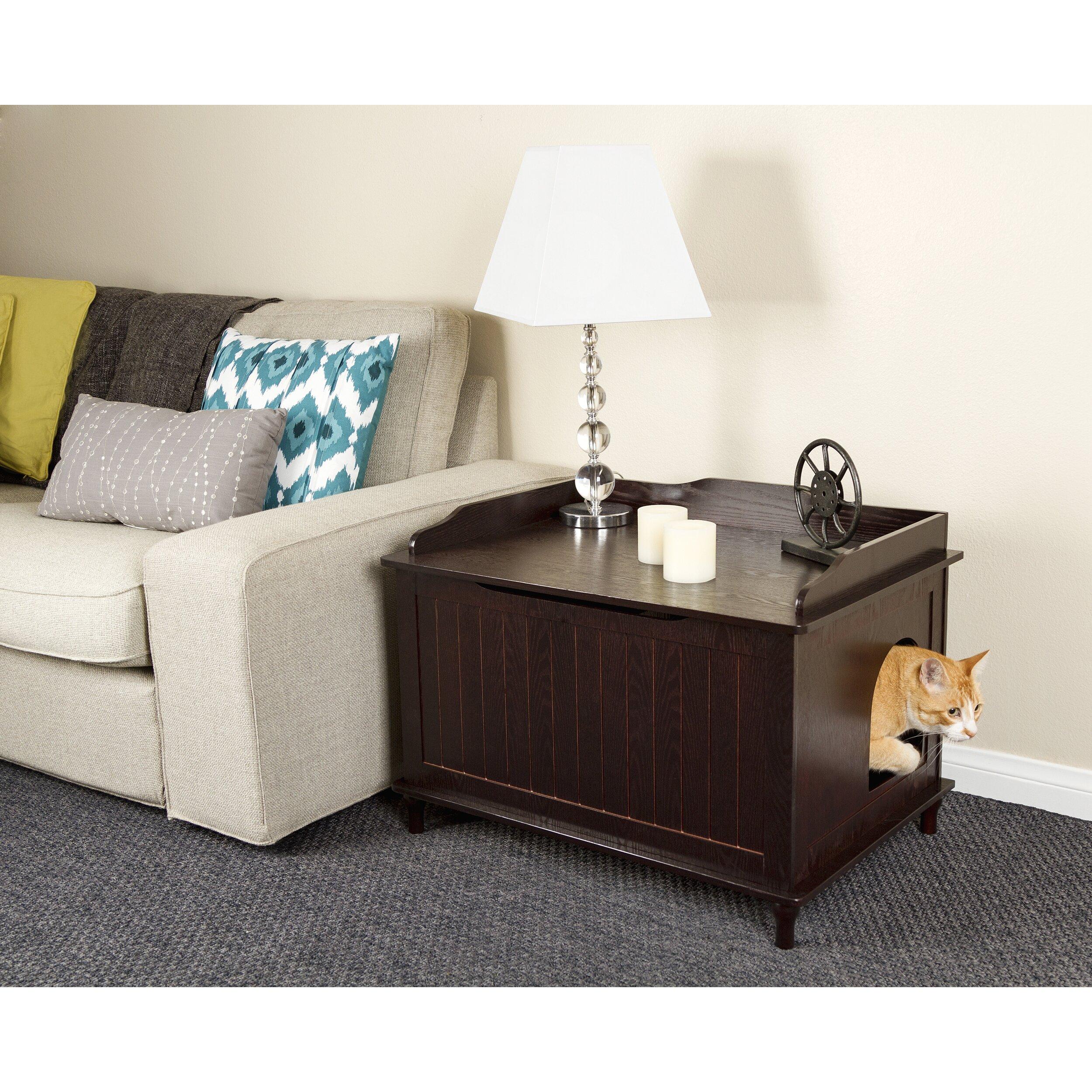 mia litter box enclosure wayfair. Black Bedroom Furniture Sets. Home Design Ideas