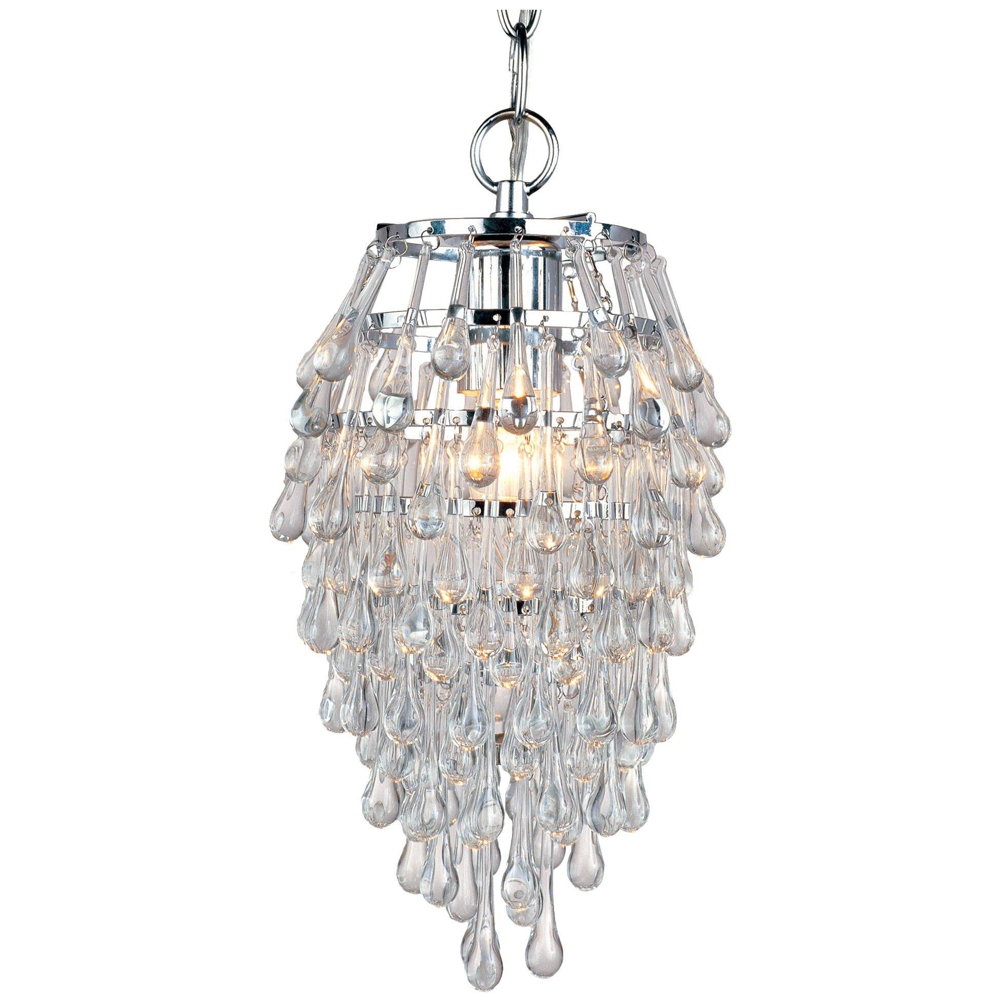 AF Lighting Elements Crystal Teardrop 1 Light Mini Chandelier Reviews