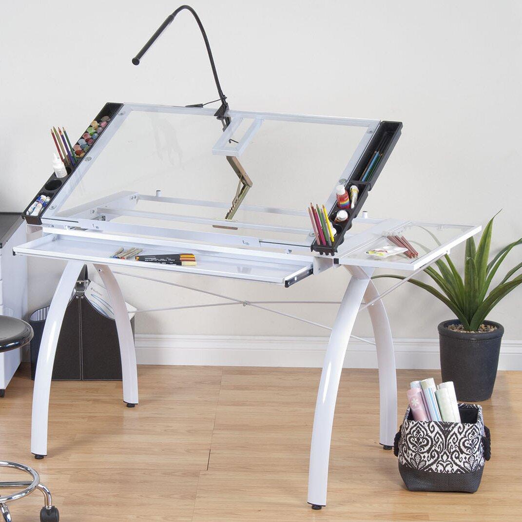 Futura glass craft station wayfair for Studio designs craft station
