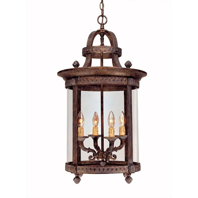 French Country 4 Light Interior Hanging Lantern