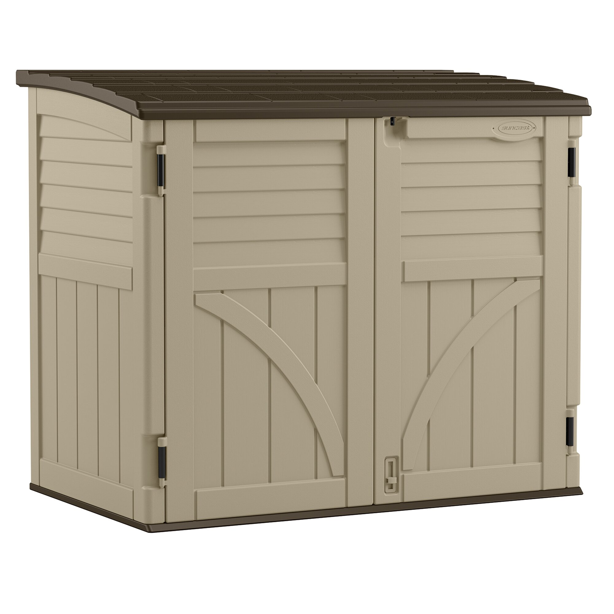 Utility 4 4 ft w x 2 7 ft d plastic storage shed wayfair for Garden shed 2 x 2