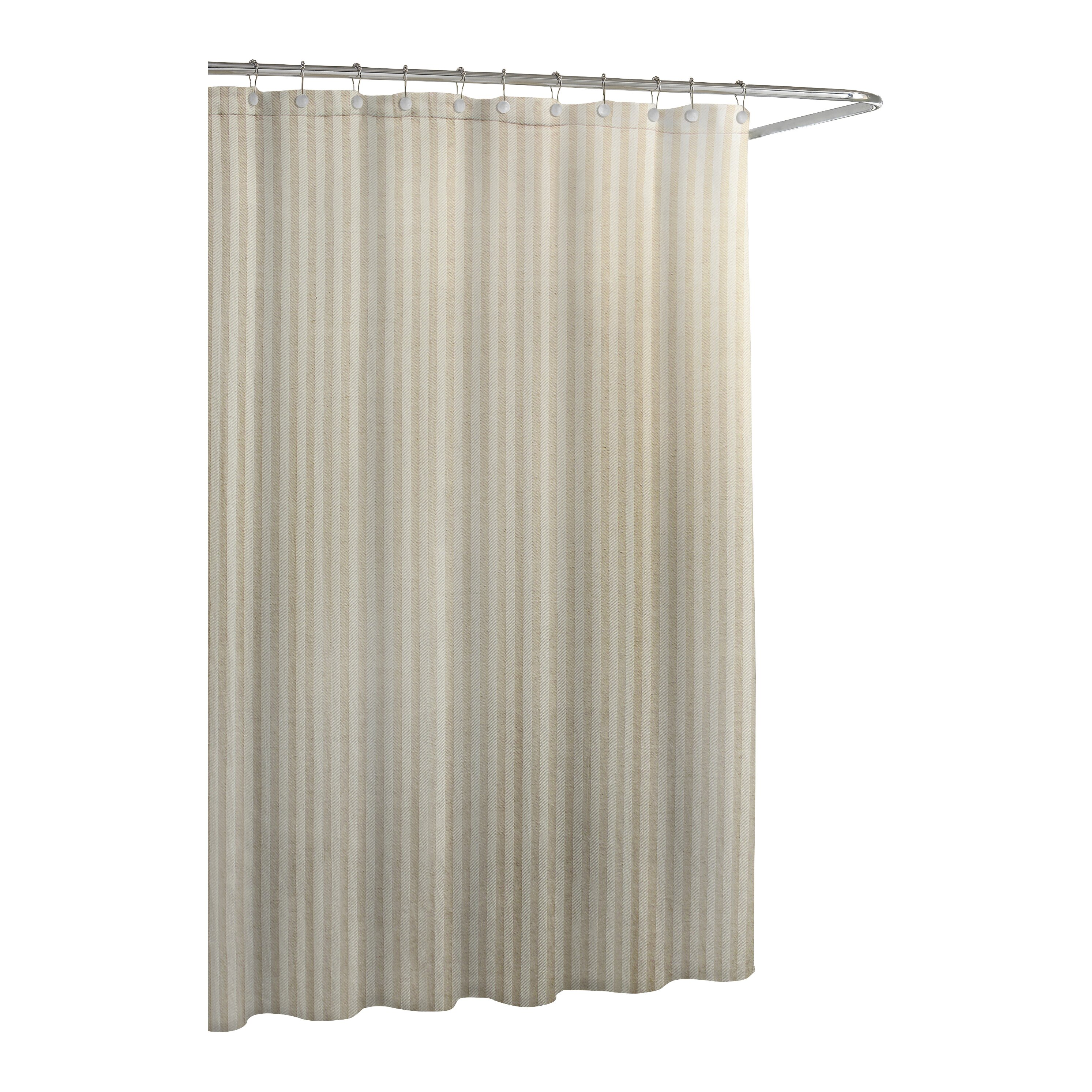 kassatex fine linens cotton blend chevron shower curtain