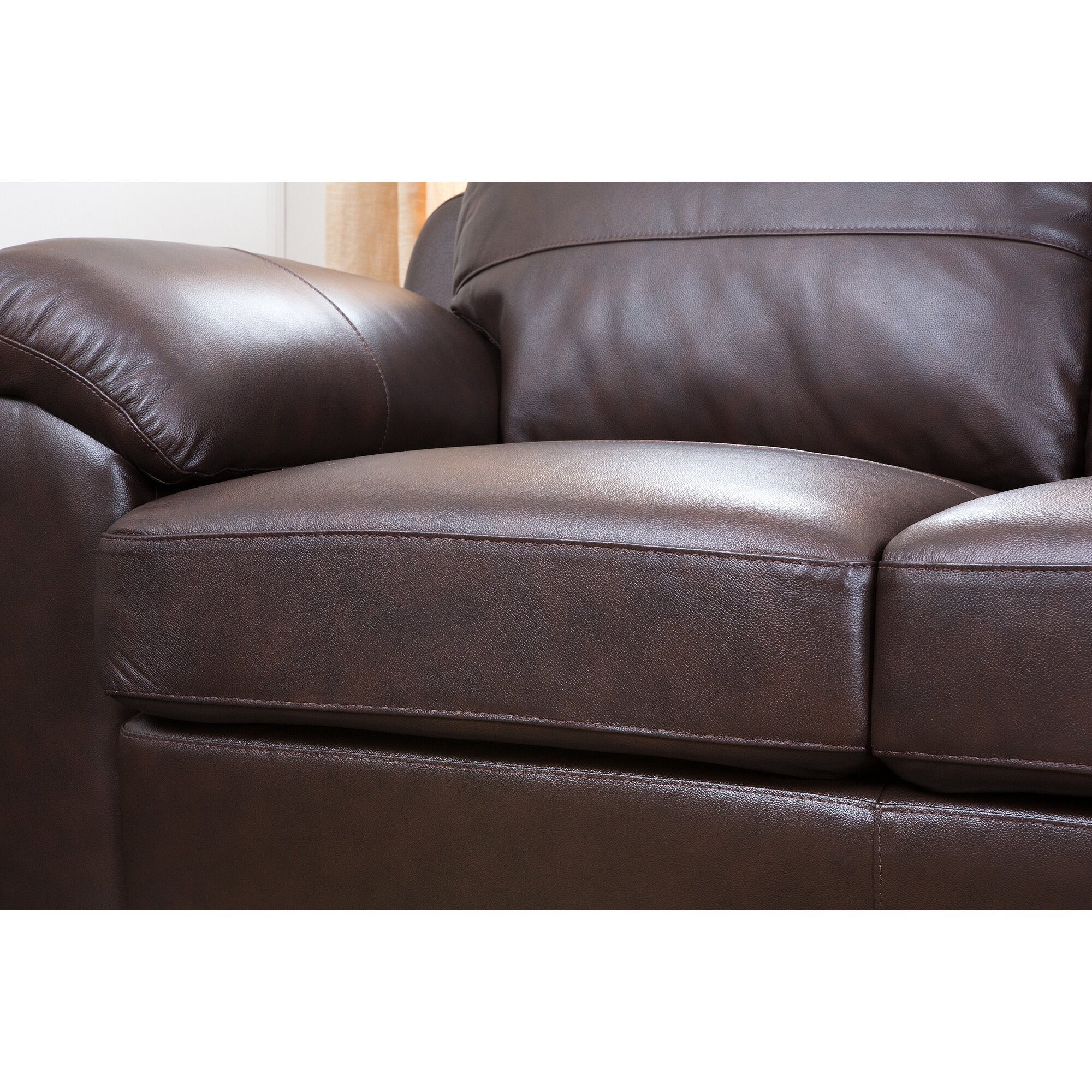 cosmopolitan 3 piece leather living room set by abbyson living