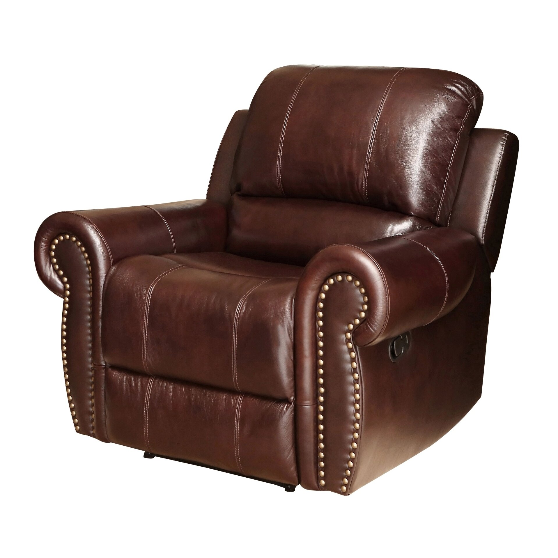 Abbyson Living Sedona Leather Chaise Recliner & Reviews ...