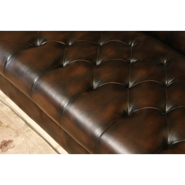 Abbyson Living Revello Bonded Leather Sofa Amp Reviews Wayfair