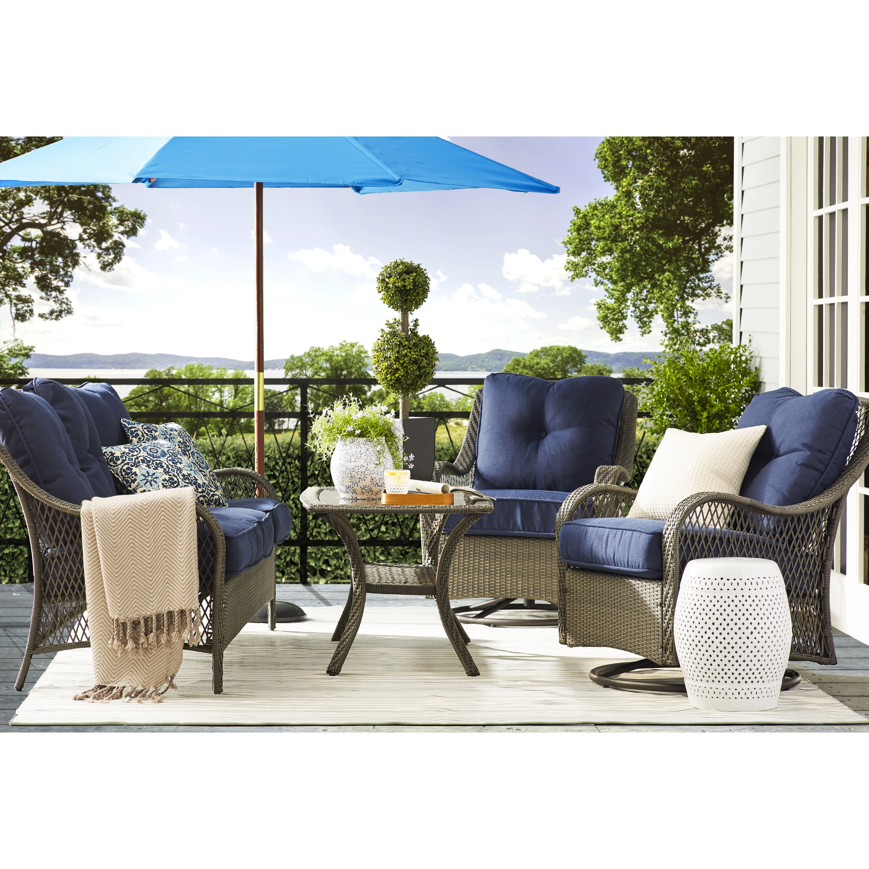 Hand Woven Blue White Indoor Outdoor Area Rug Wayfair