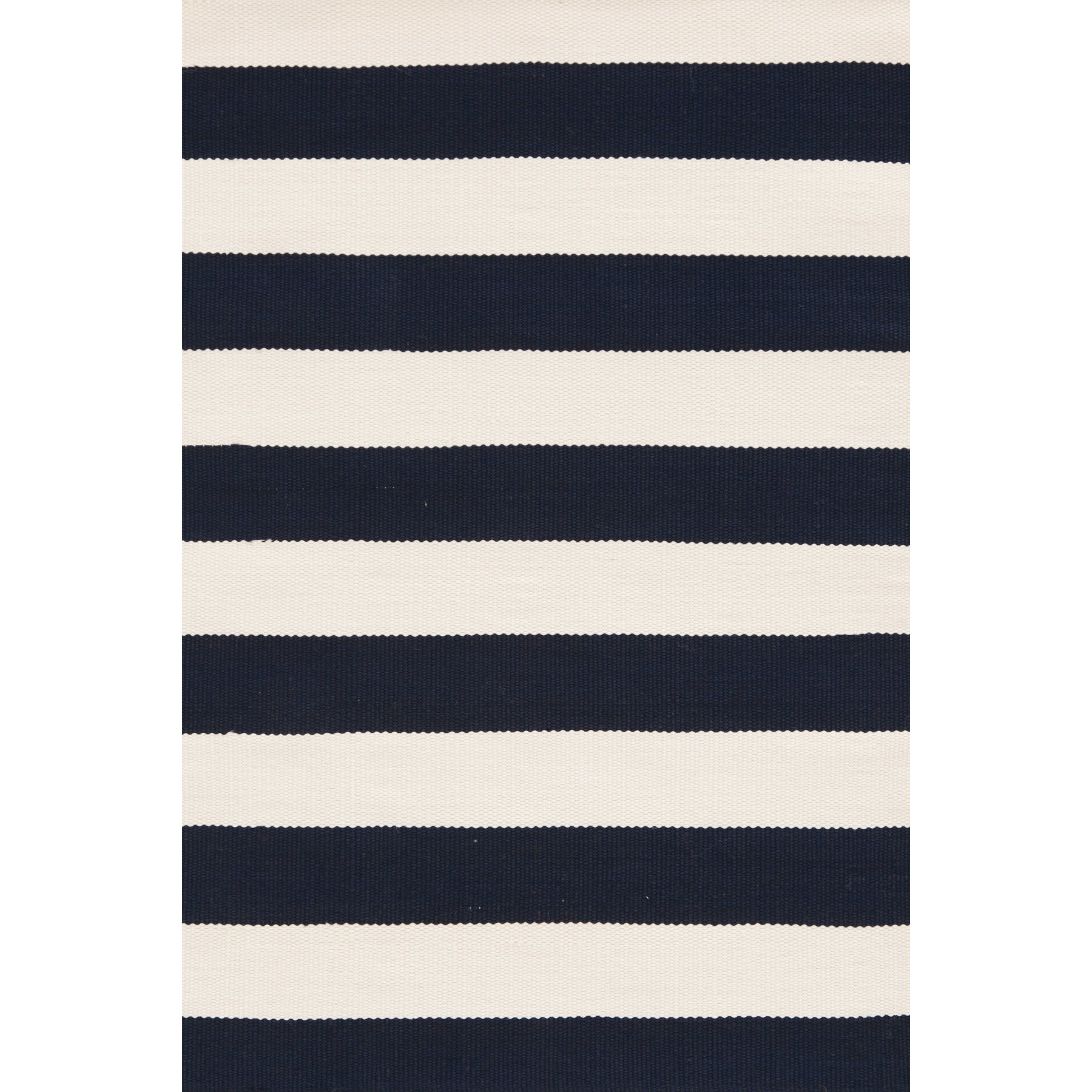 Dash and Albert Rugs Catamaran Hand Woven White Blue Area