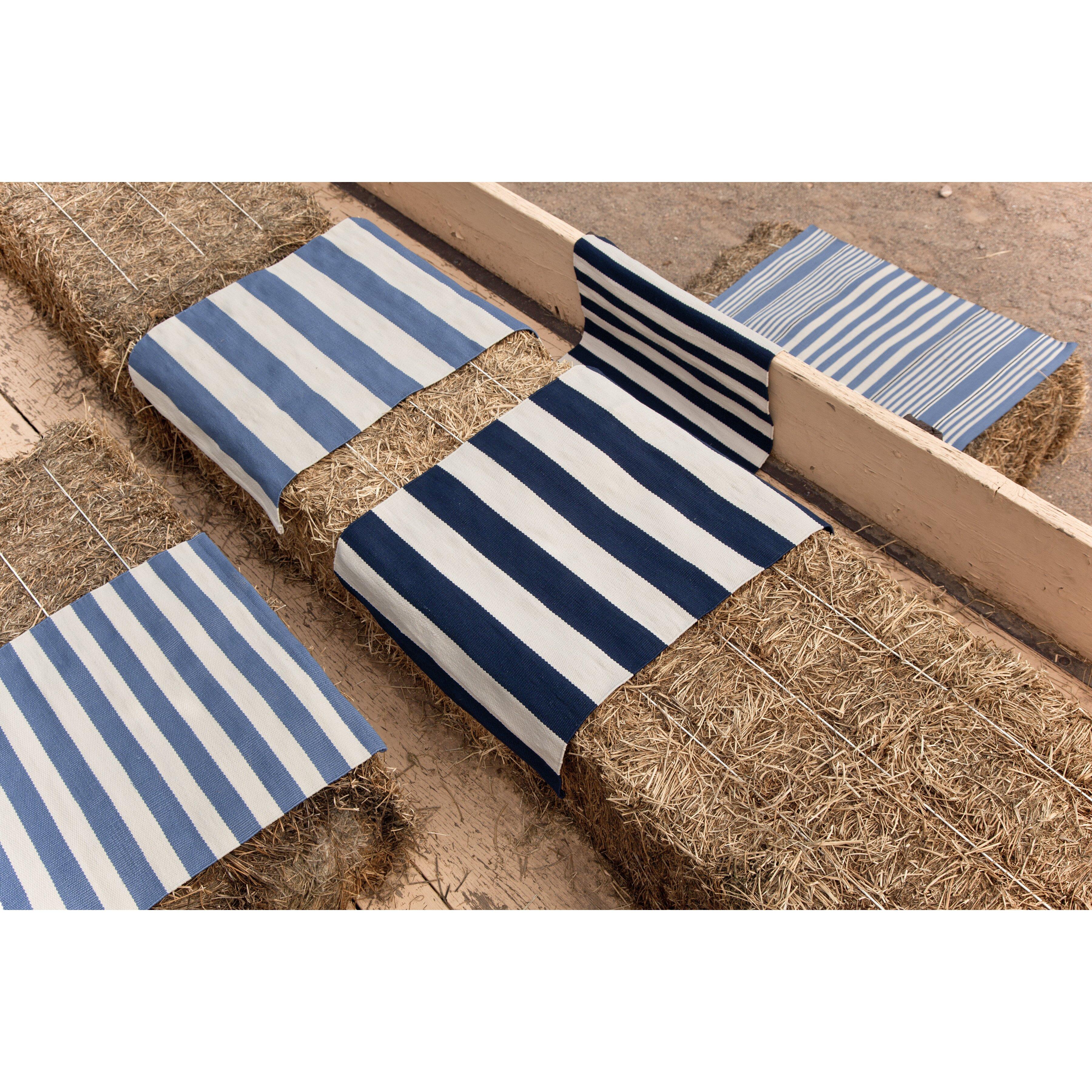 Indoor outdoor blue white outdoor area rug wayfair for Albert and dash outdoor rugs