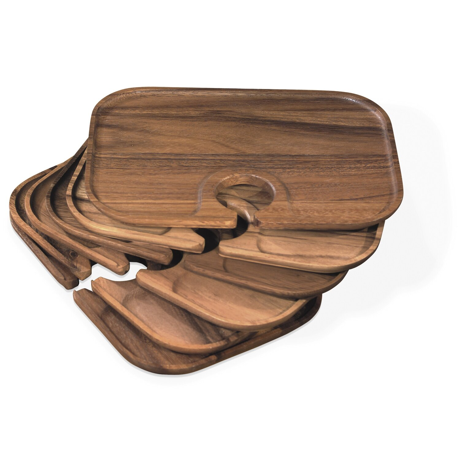 Fox run craftsmen ironwood gourmet canape serving tray for Canape serving platters