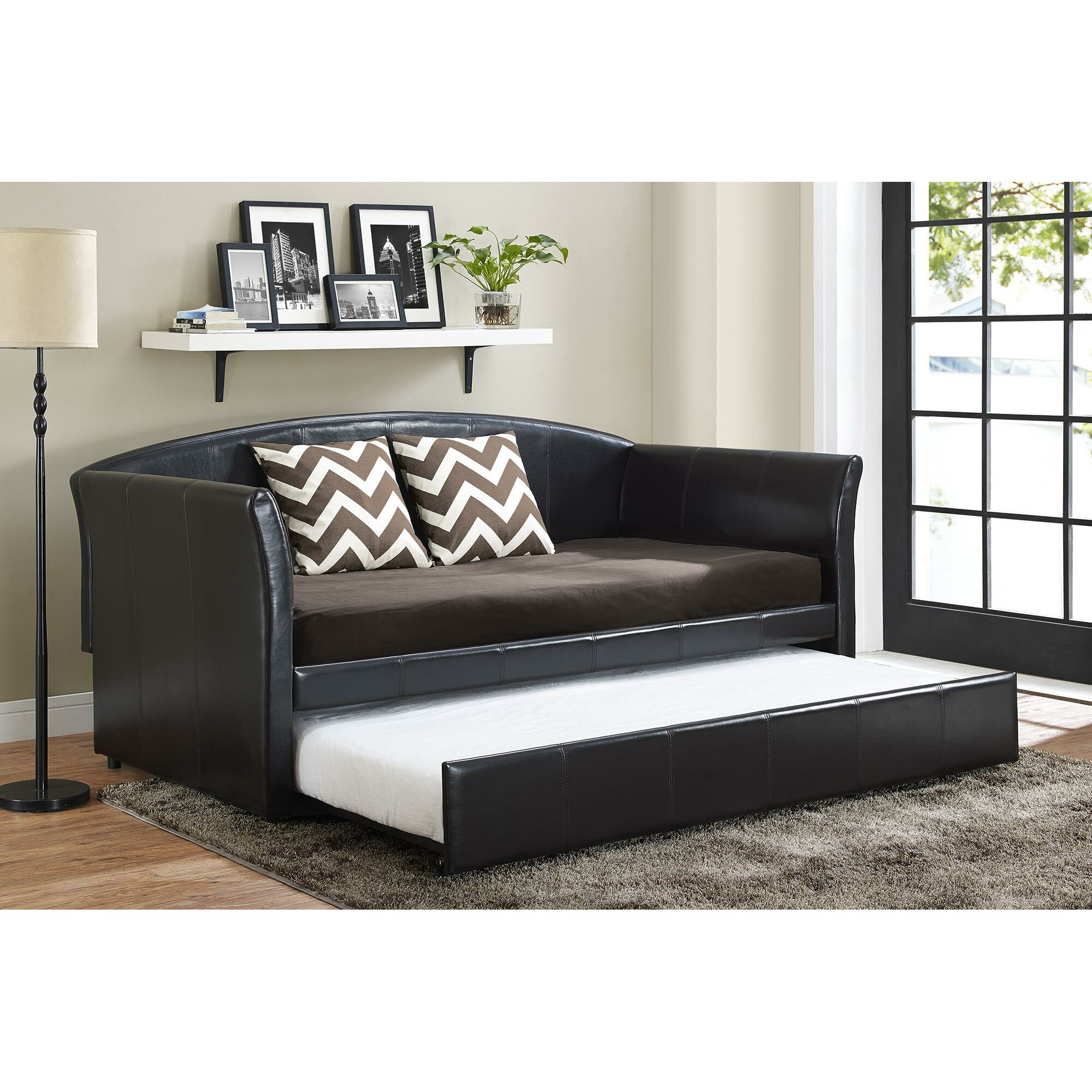 DHP Halle Daybed with Trundle amp Reviews Wayfair : Halle Daybed with Trundle 4019257 from www.wayfair.com size 2000 x 2000 jpeg 629kB