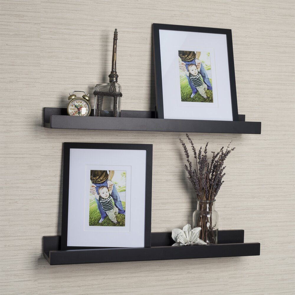 Danyab 4 piece ledge floating shelf picture frame set - Shelving for picture frames ...