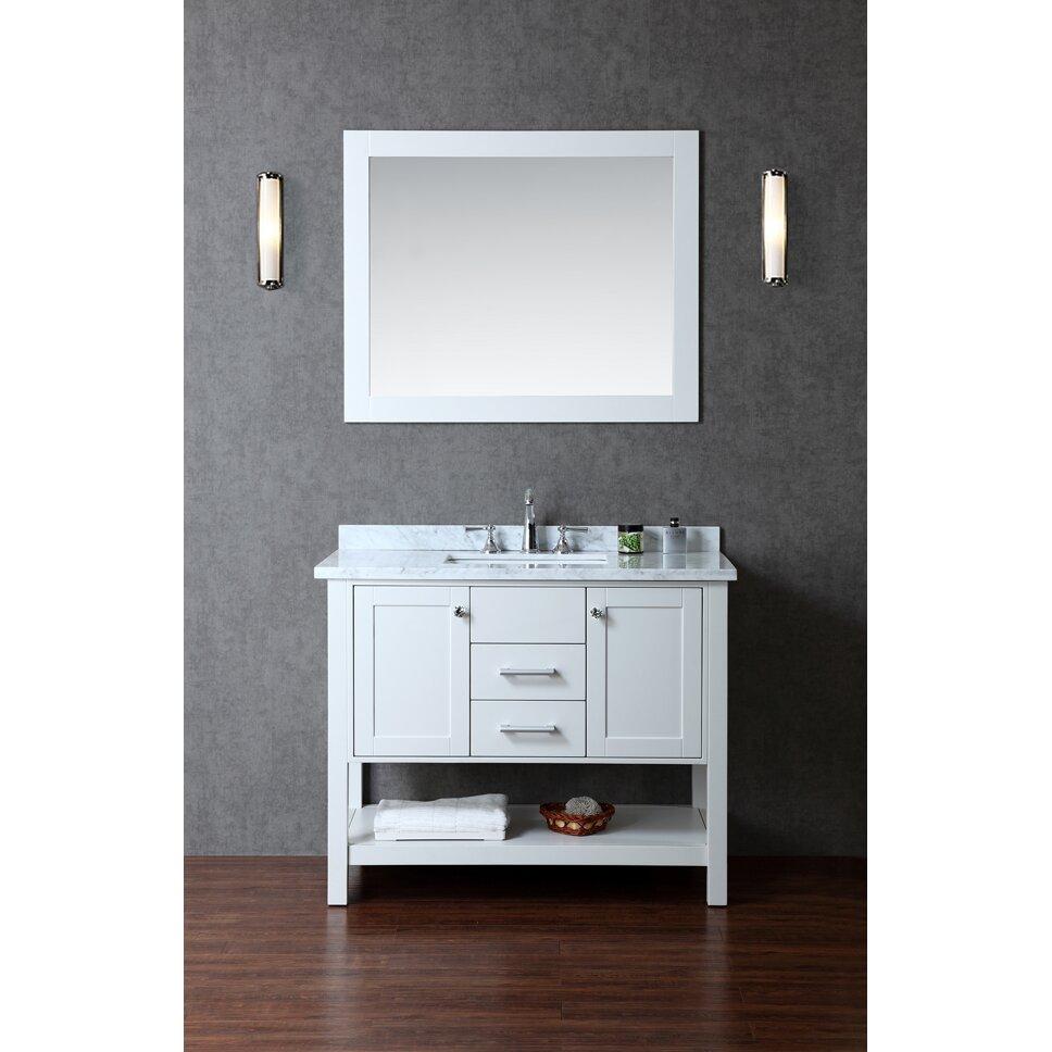"Bayhill 42"" Single Bathroom Vanity Set with Mirror"