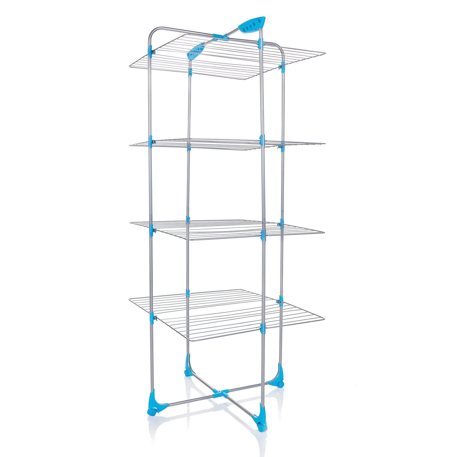 tower indoor drying rack in white wayfair. Black Bedroom Furniture Sets. Home Design Ideas