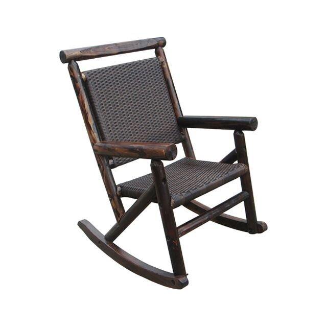 Char-Log Rattan Single Rocking Chair by LeighCountry