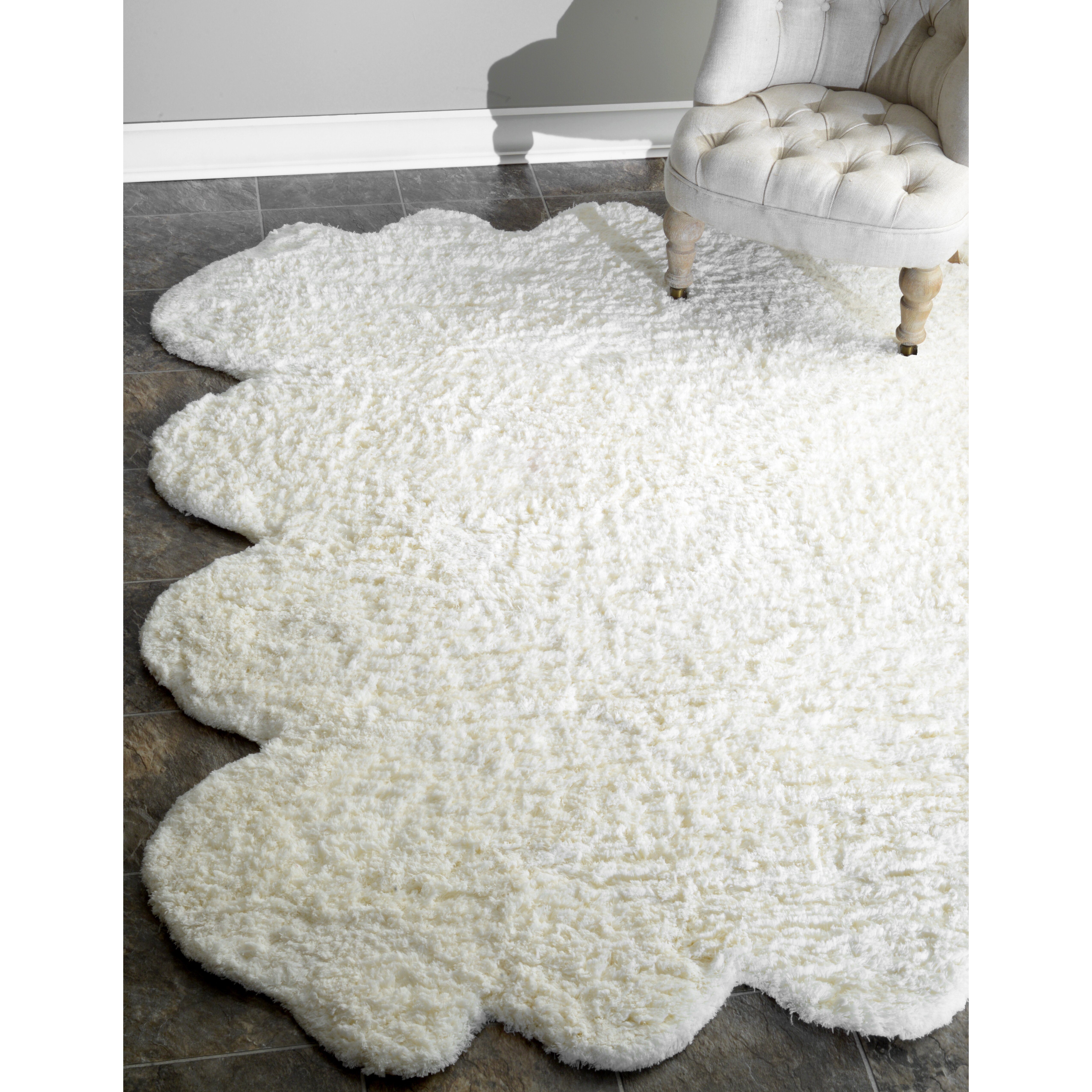 Octo Pelt Faux Sheepskin Hand Tufted Natural Area Rug