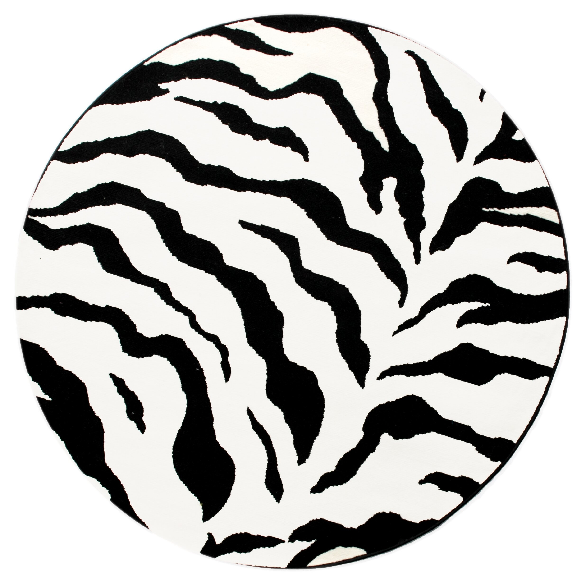 NuLOOM Earth Zebra Print Black & Ivory Area Rug & Reviews