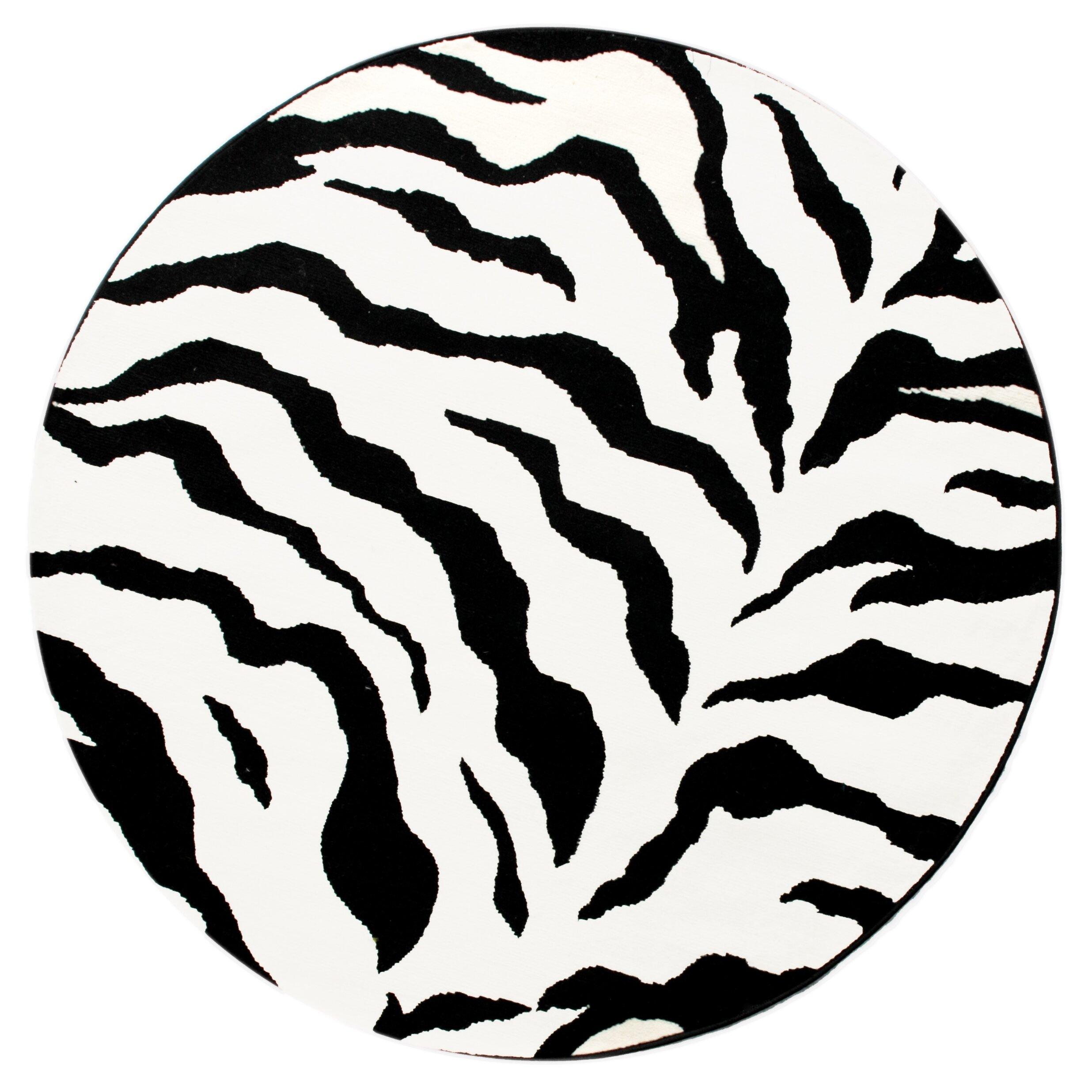 Zebra Rug Large: NuLOOM Earth Zebra Print Black & Ivory Area Rug & Reviews