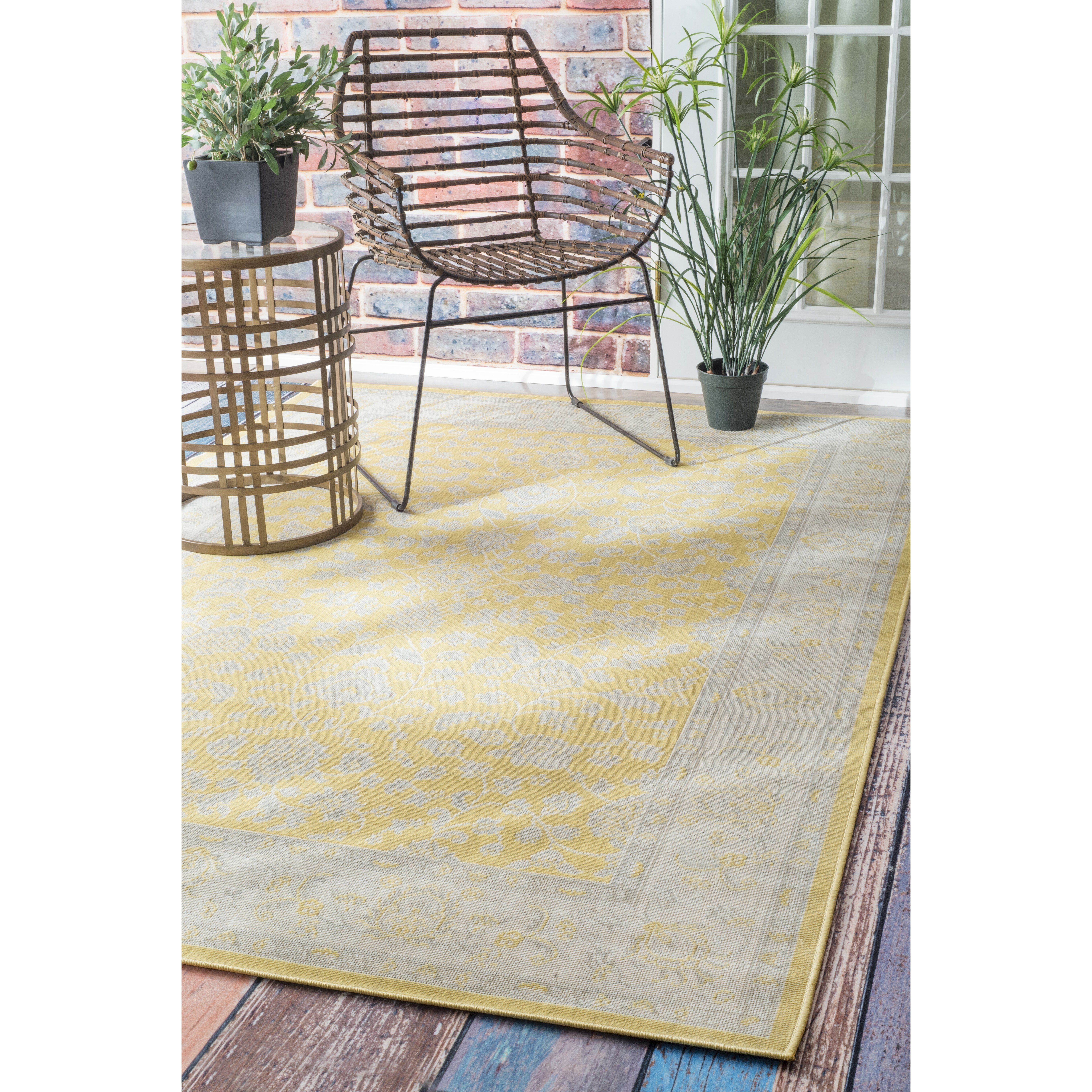 nuLOOM Everett Yellow Indoor Outdoor Area Rug & Reviews