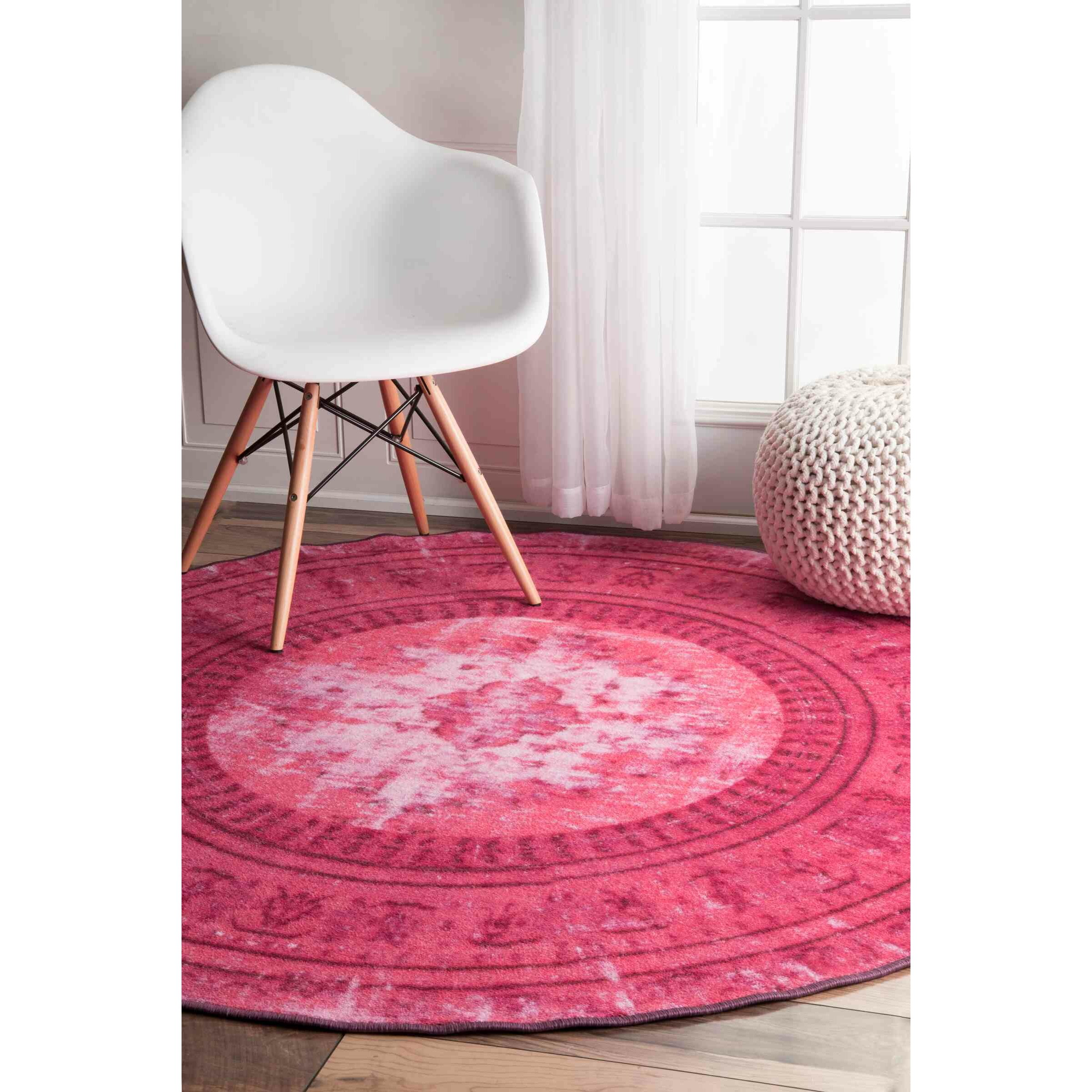 Hawkesbury Overdyed Style Harper Pink Floral Area Rug