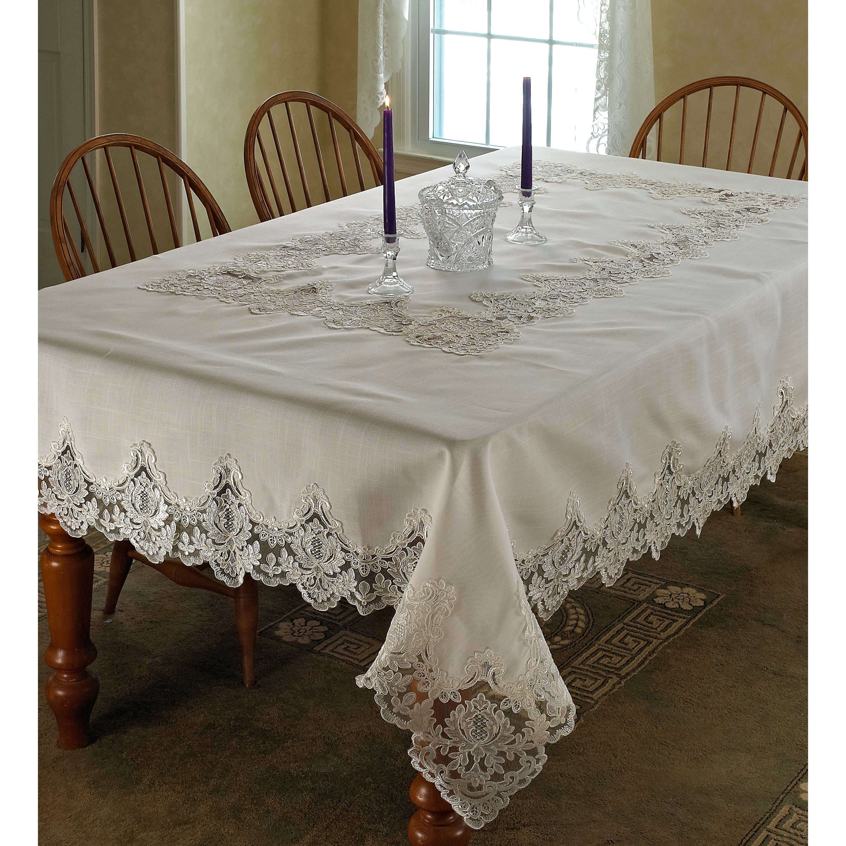 Imperial Embroidered Vintage Lace Tablecloth Wayfair